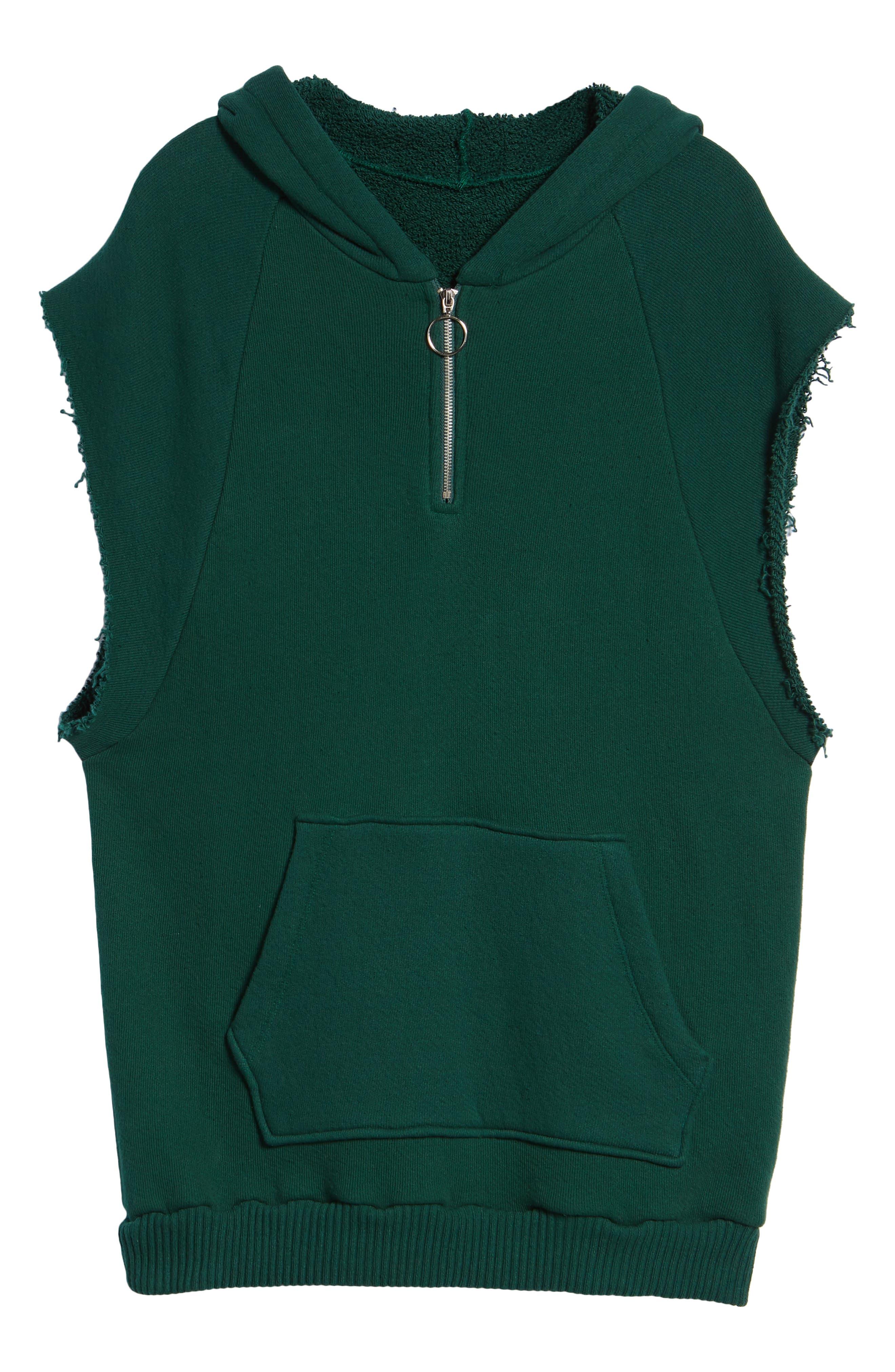 Warwick Quarter-Zip Hoodie Sweatshirt,                             Alternate thumbnail 6, color,                             HUNTER GREEN