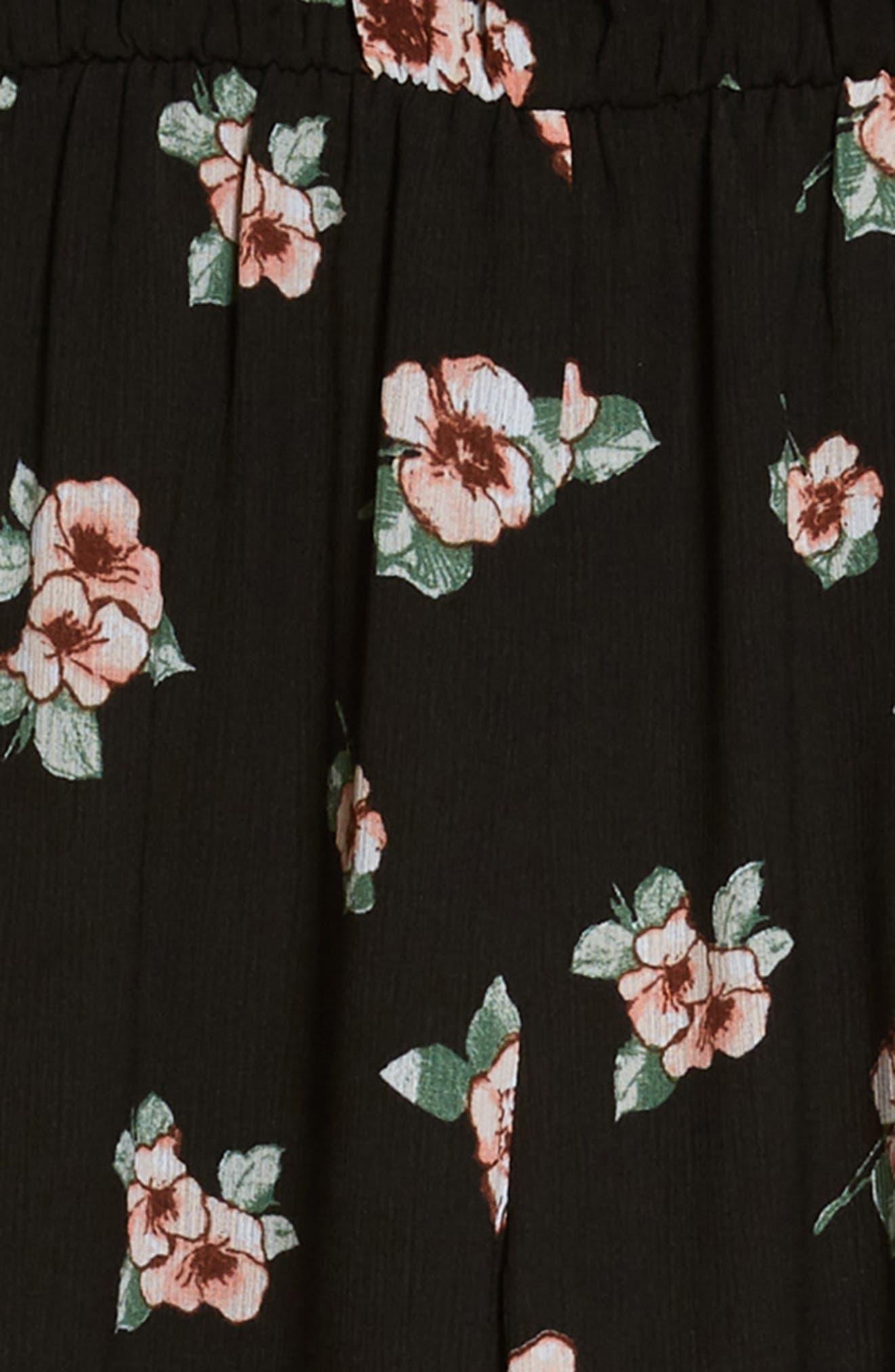 Floral Print Jumpsuit,                             Alternate thumbnail 2, color,                             001