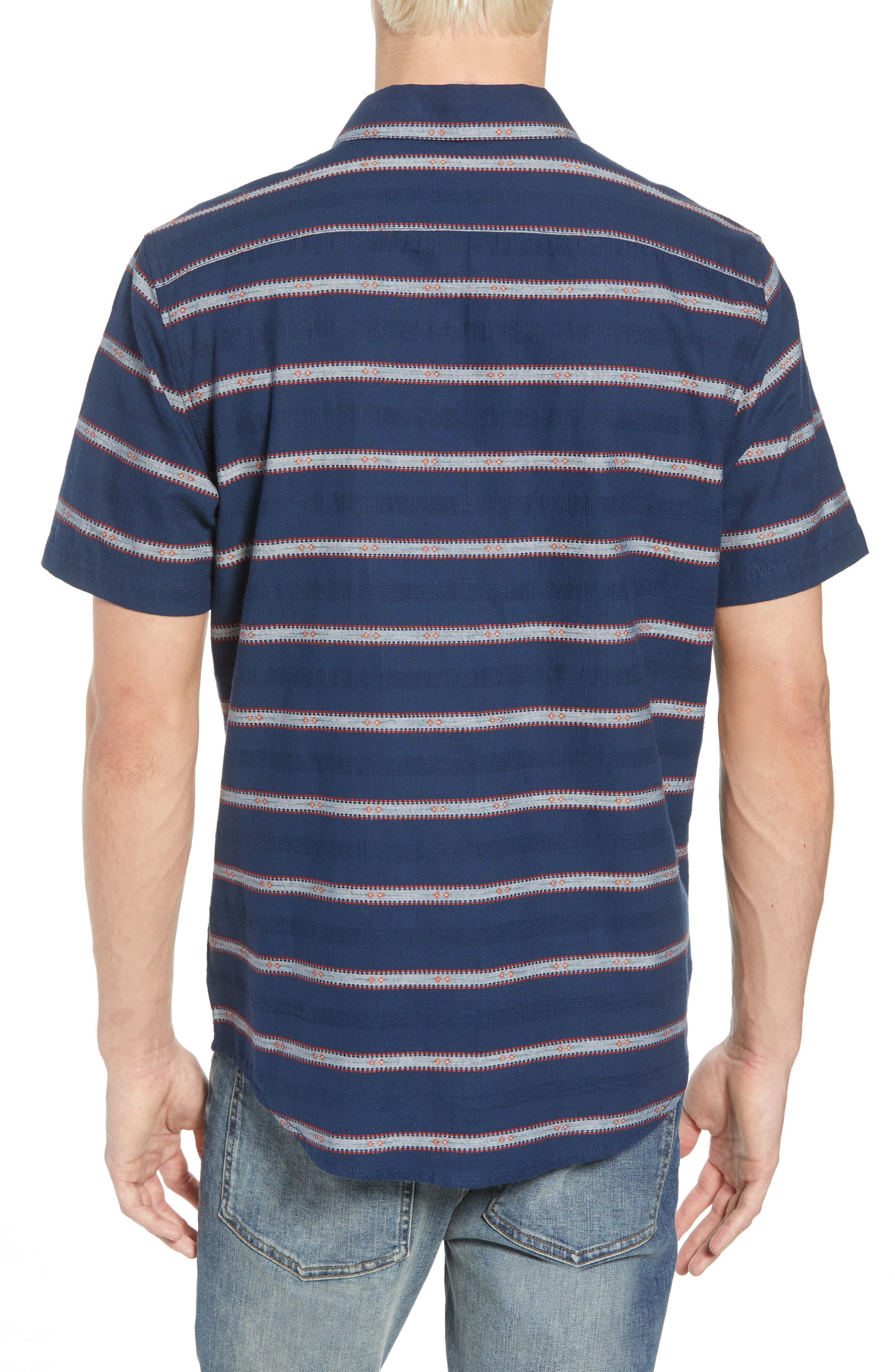 Outer Sunset Woven Shirt,                             Alternate thumbnail 2, color,                             SEATTLE BLUE
