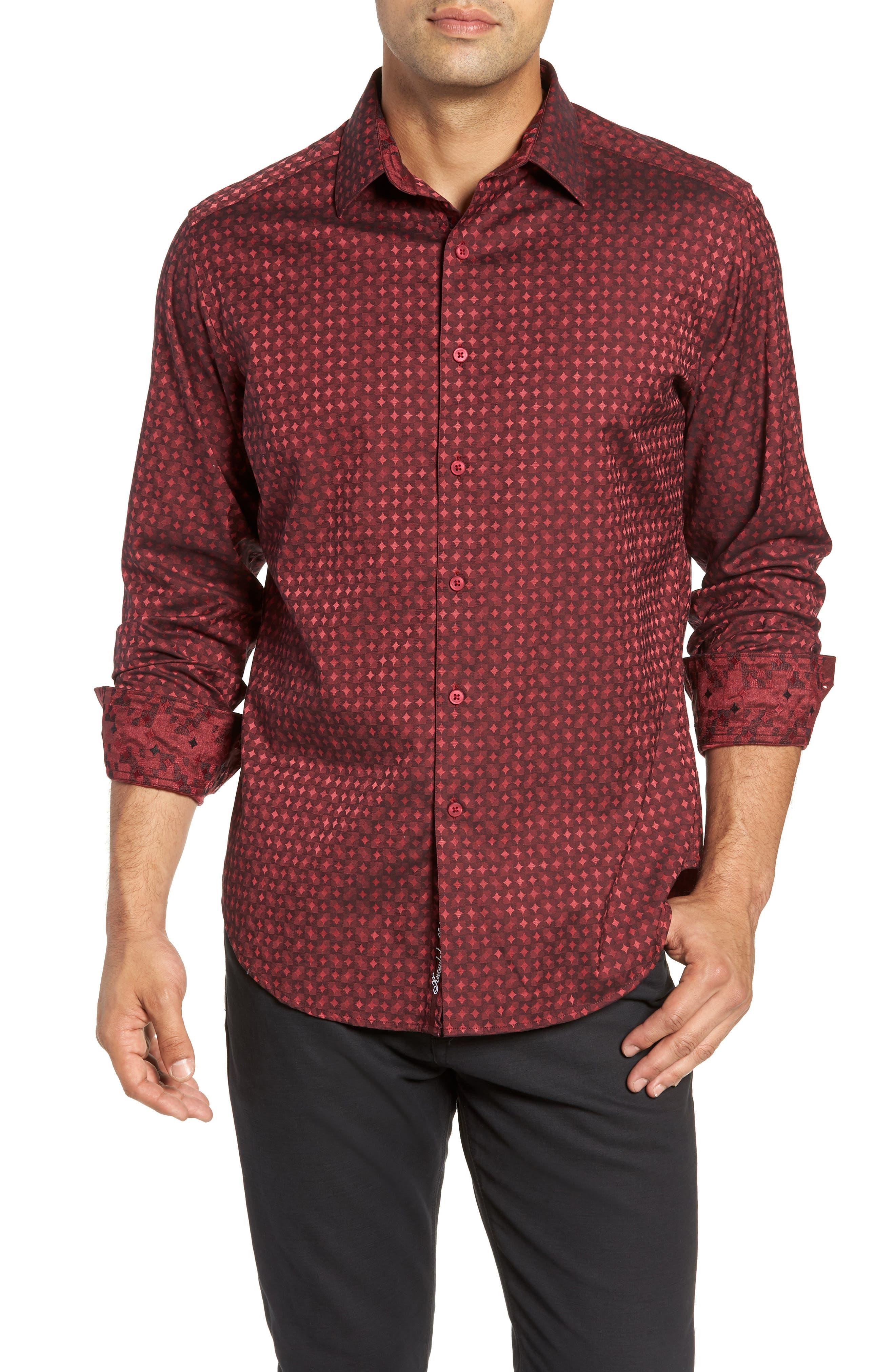 Harris Classic Fit Sport Shirt,                         Main,                         color, BURGUNDY