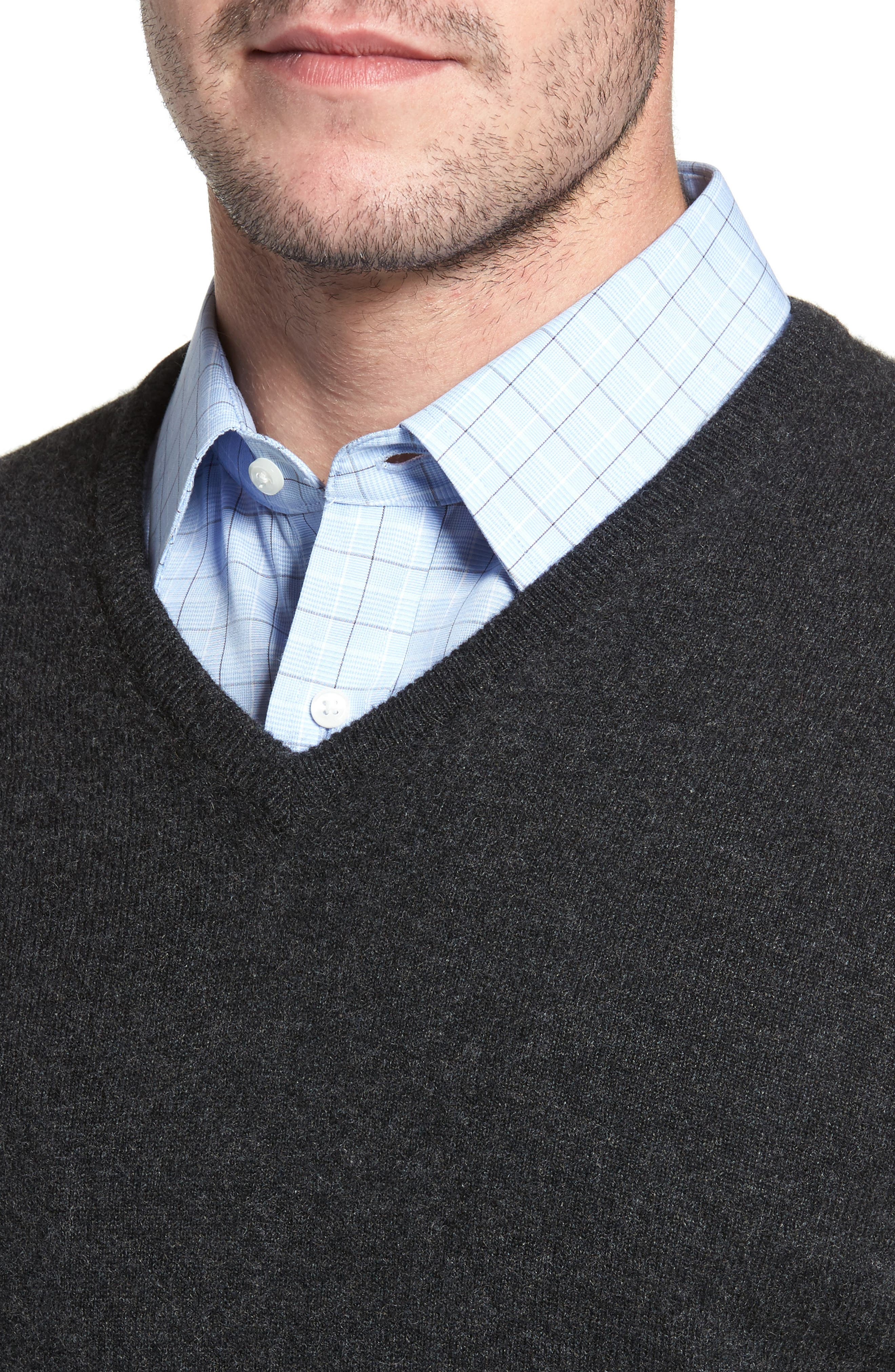 Cashmere V-Neck Sweater,                             Alternate thumbnail 19, color,