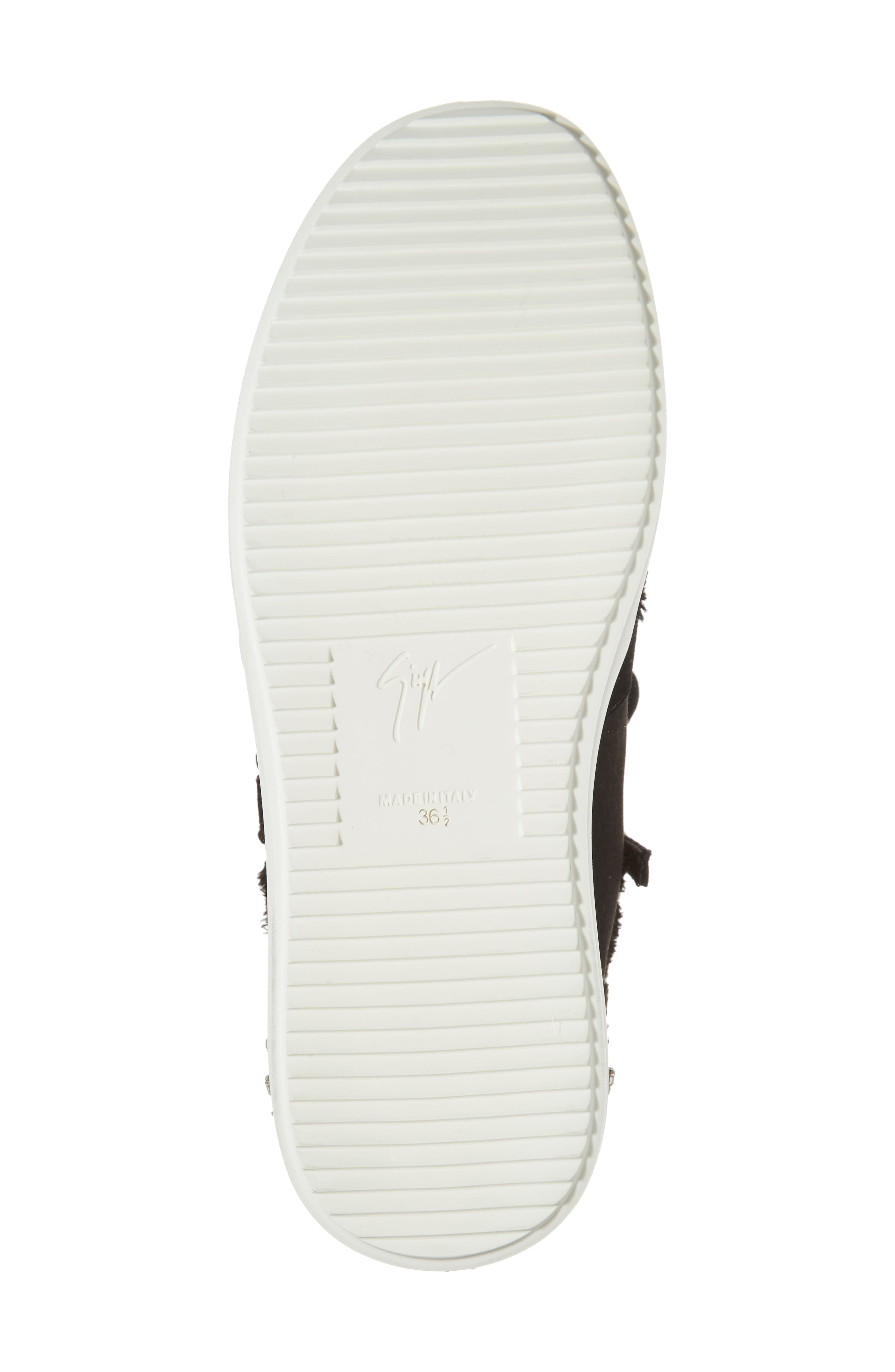 GIUSEPPE ZANOTTI,                             Swarovski Crystal Embellished Sneaker,                             Alternate thumbnail 6, color,                             001