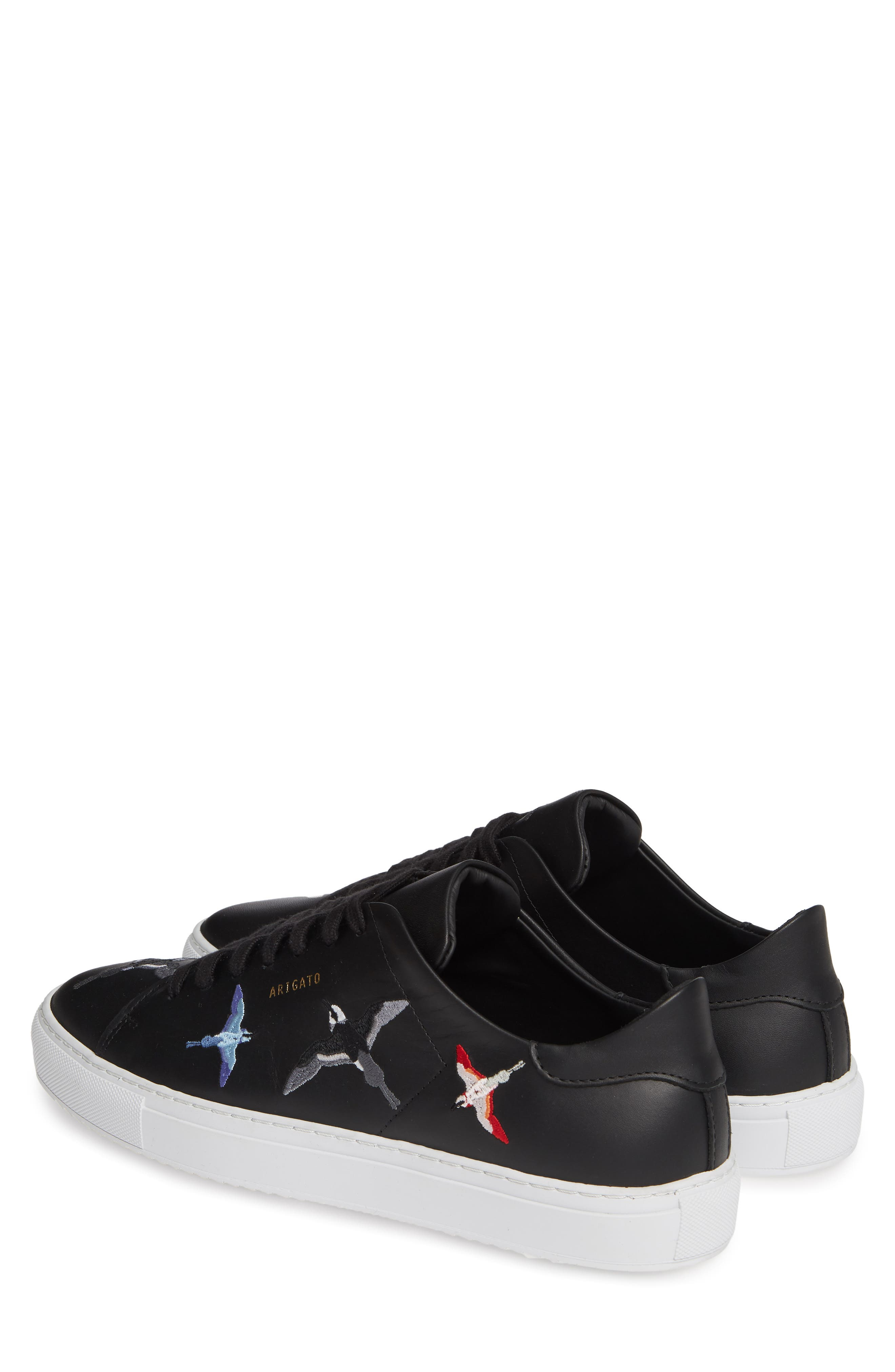 Clean 90 Sneaker,                             Alternate thumbnail 3, color,                             BLACK W/ BIRDS