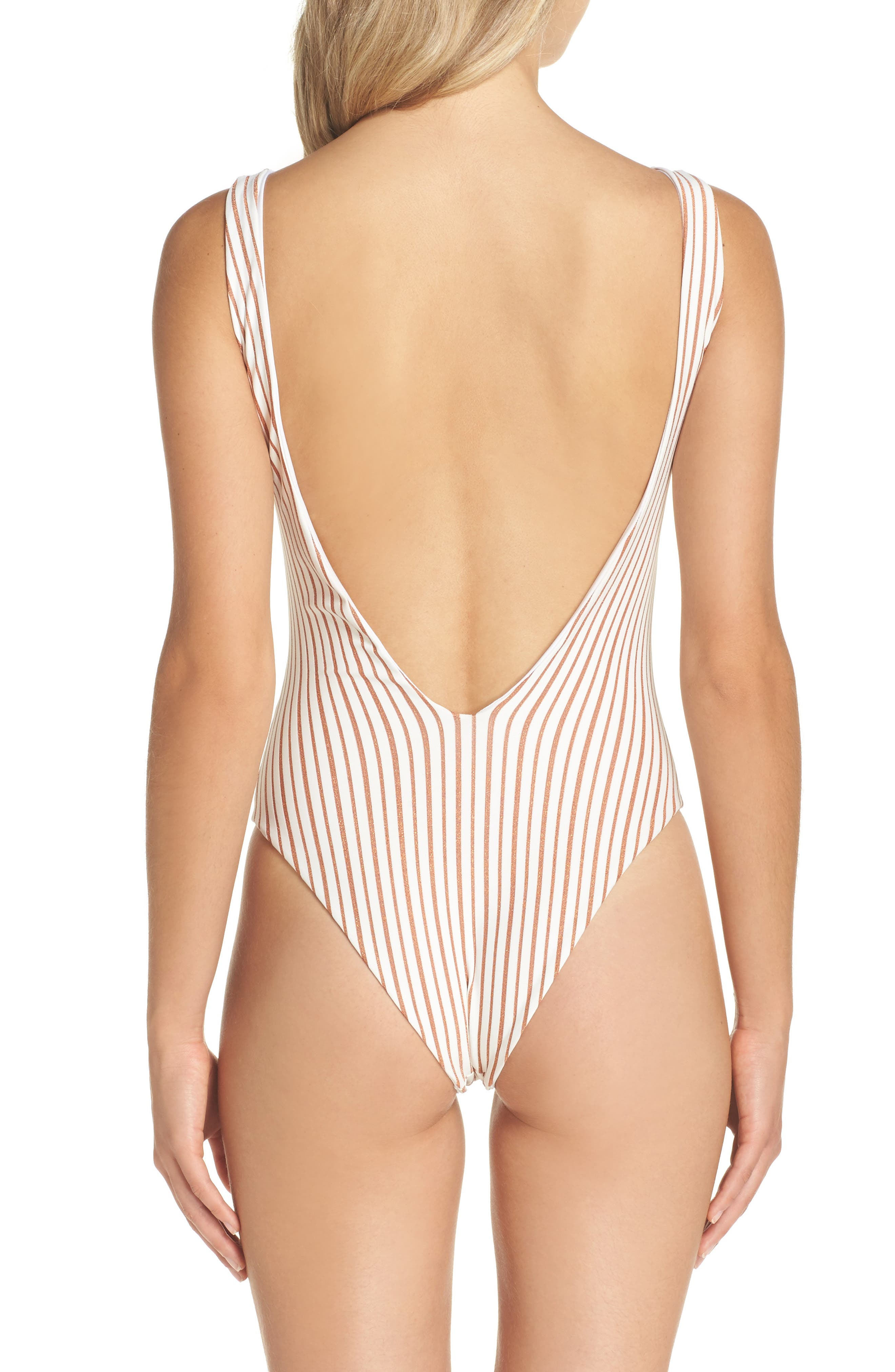 Arizona Reversible One-Piece Swimsuit,                             Alternate thumbnail 3, color,                             100
