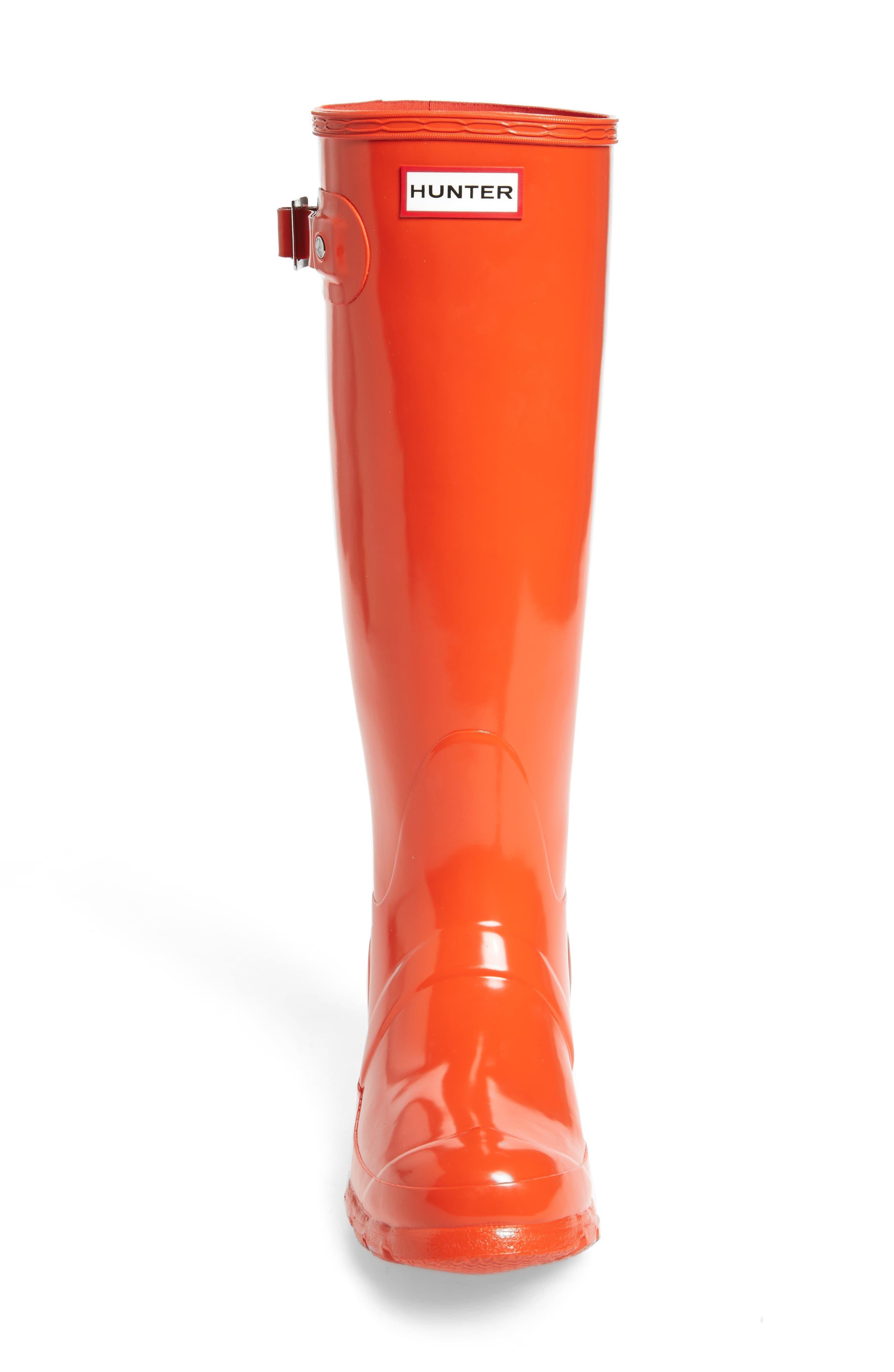 Original High Gloss Boot,                             Alternate thumbnail 5, color,                             ORANGE