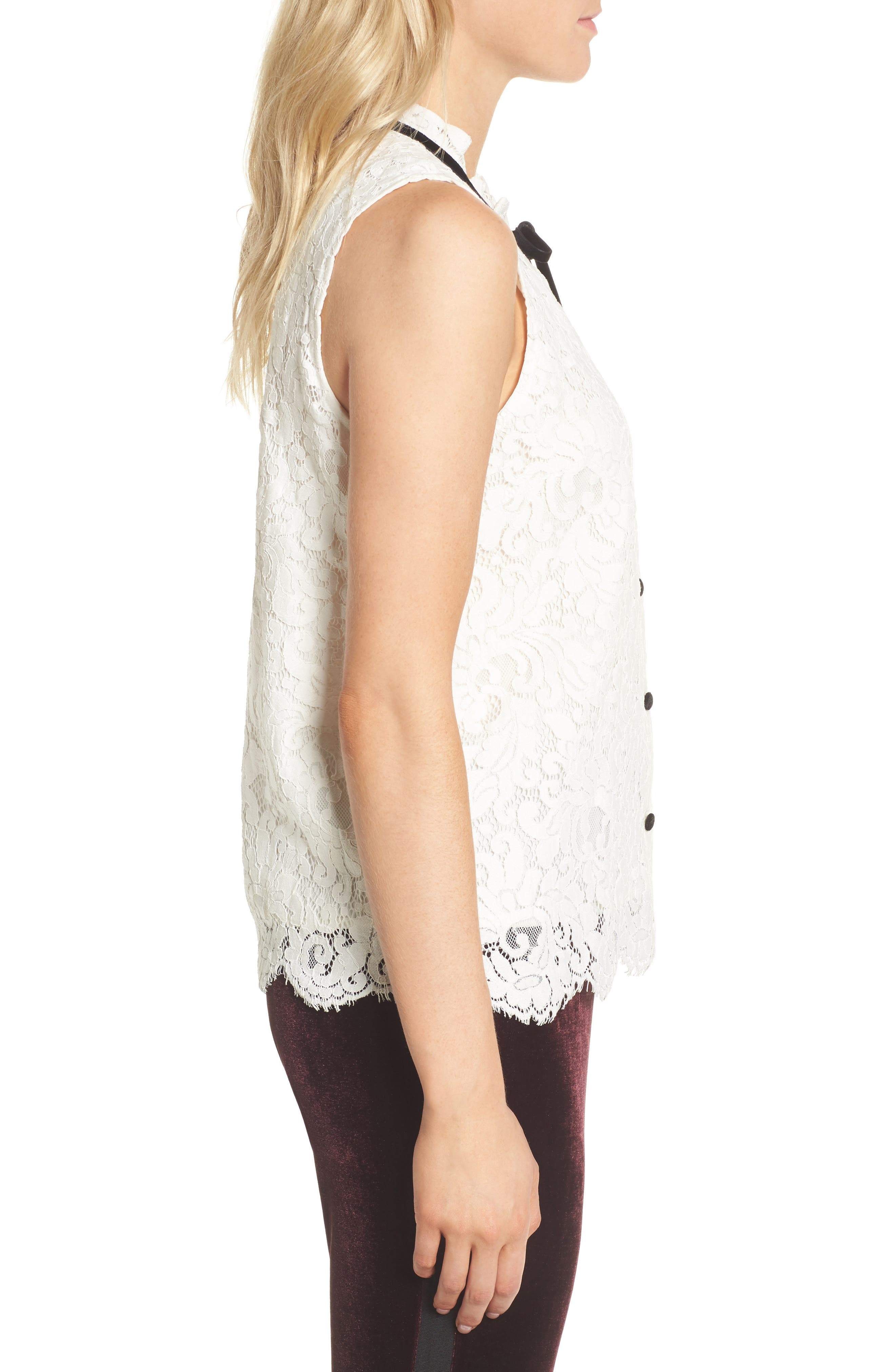 Isra Lace Top,                             Alternate thumbnail 6, color,