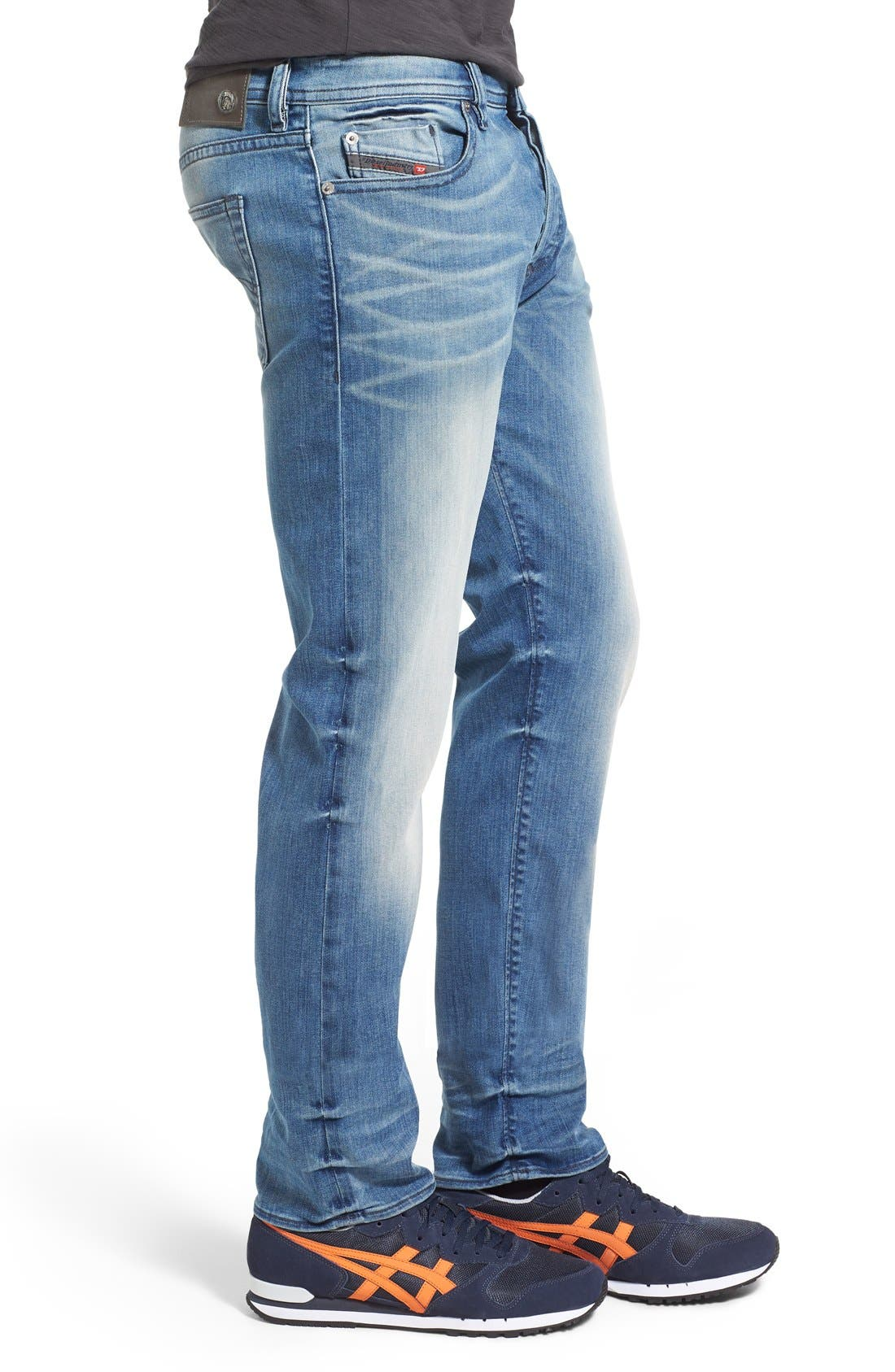 'Buster' Slim Straight Fit Jeans,                             Alternate thumbnail 11, color,                             400