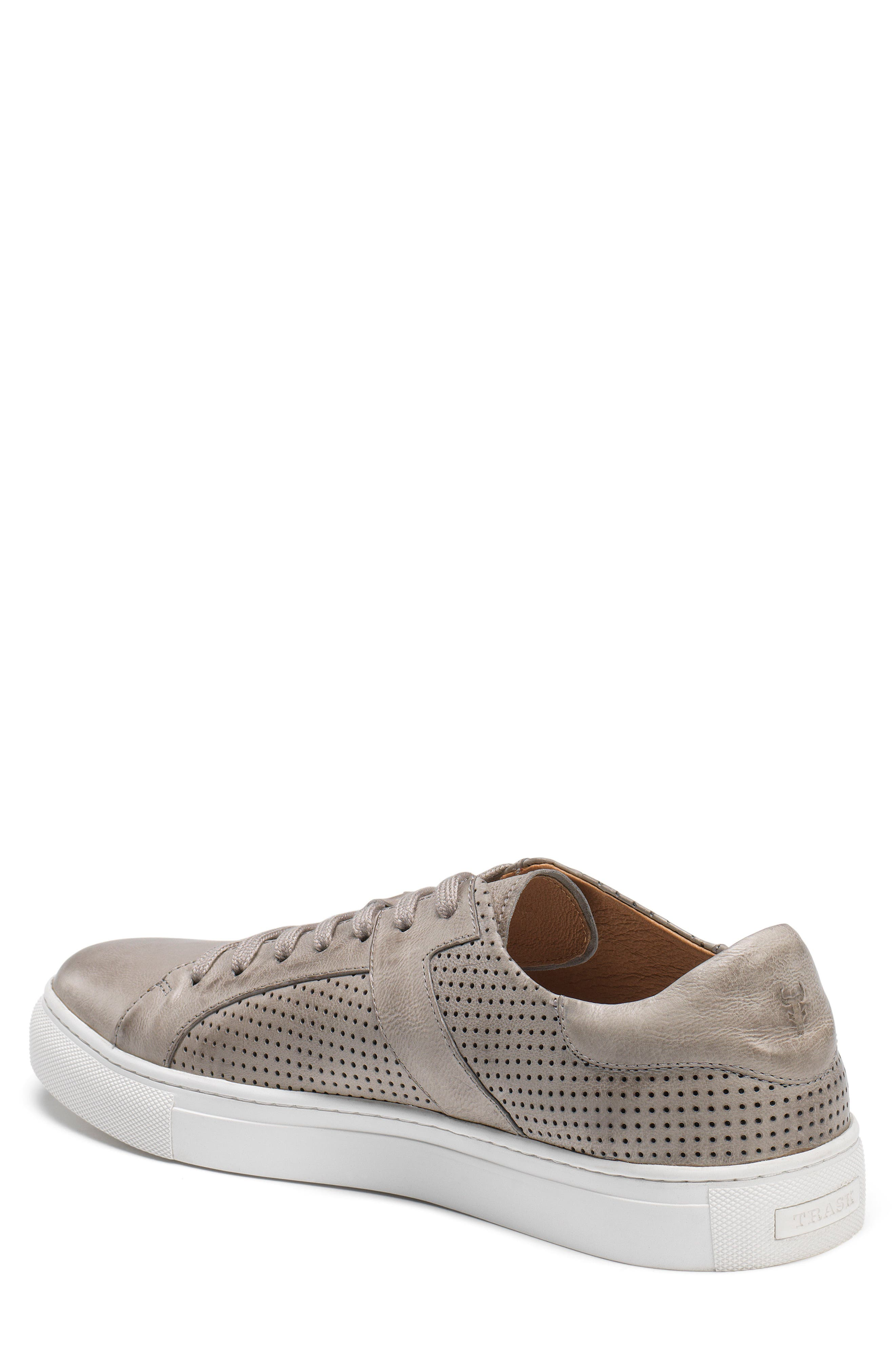 TRASK,                             Aaron Sneaker,                             Alternate thumbnail 2, color,                             LIGHT GREY LEATHER