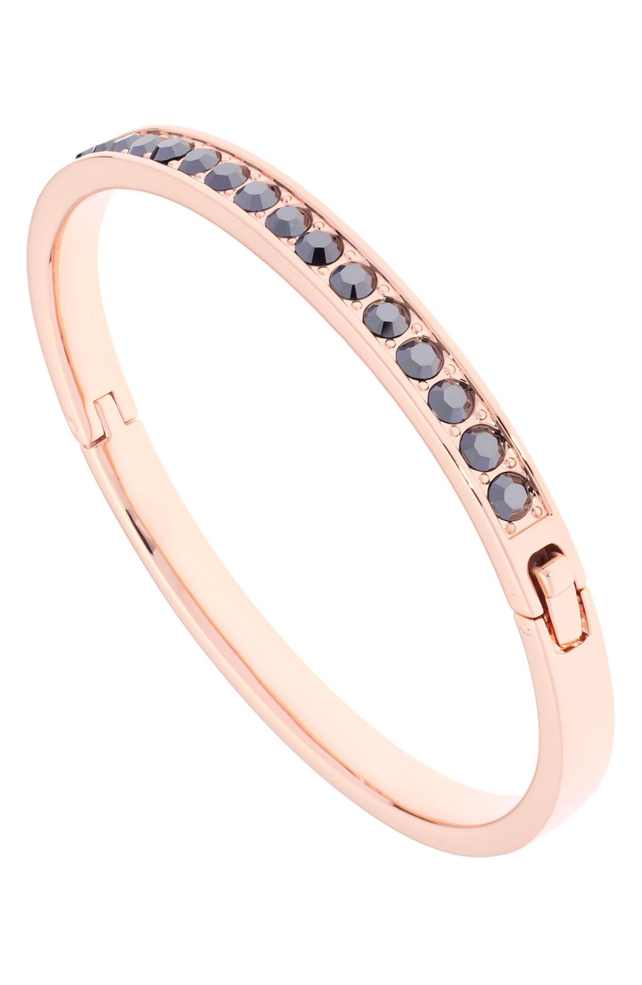 Clemara Hinge Bangle Bracelet,                             Alternate thumbnail 2, color,                             001