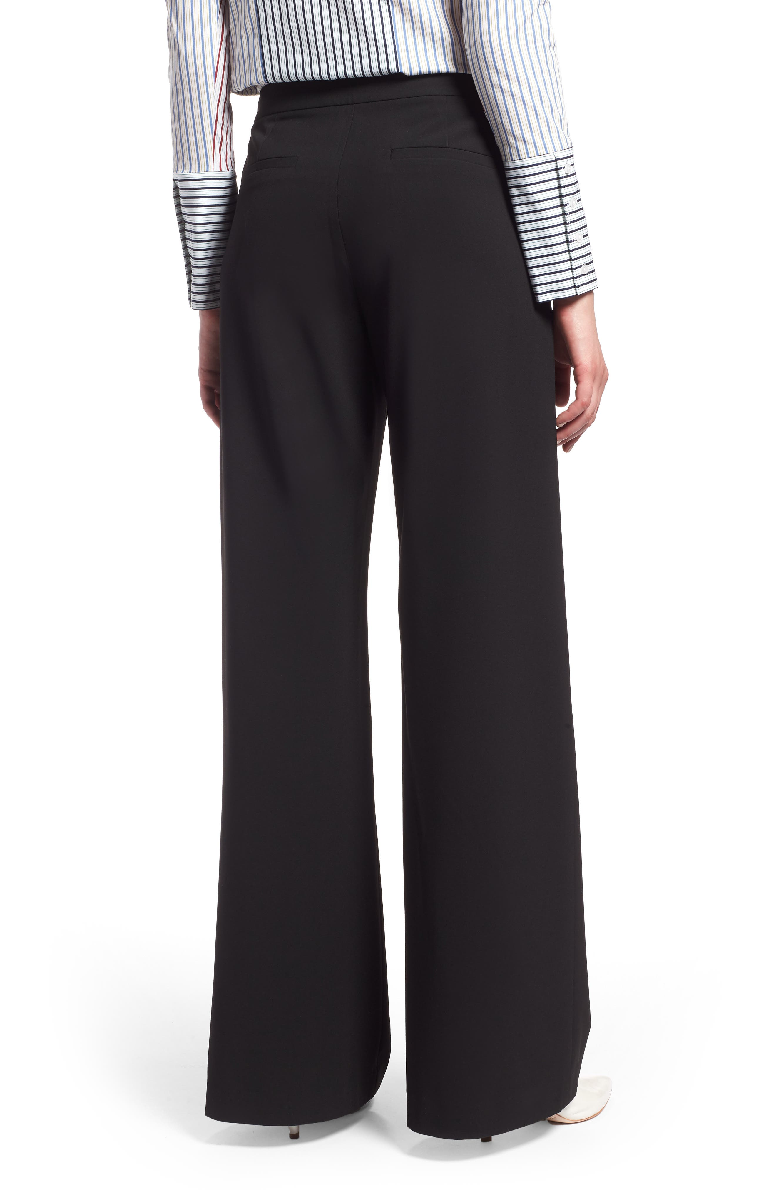 High Waist Wide Leg Pants, Alternate, color, BLACK
