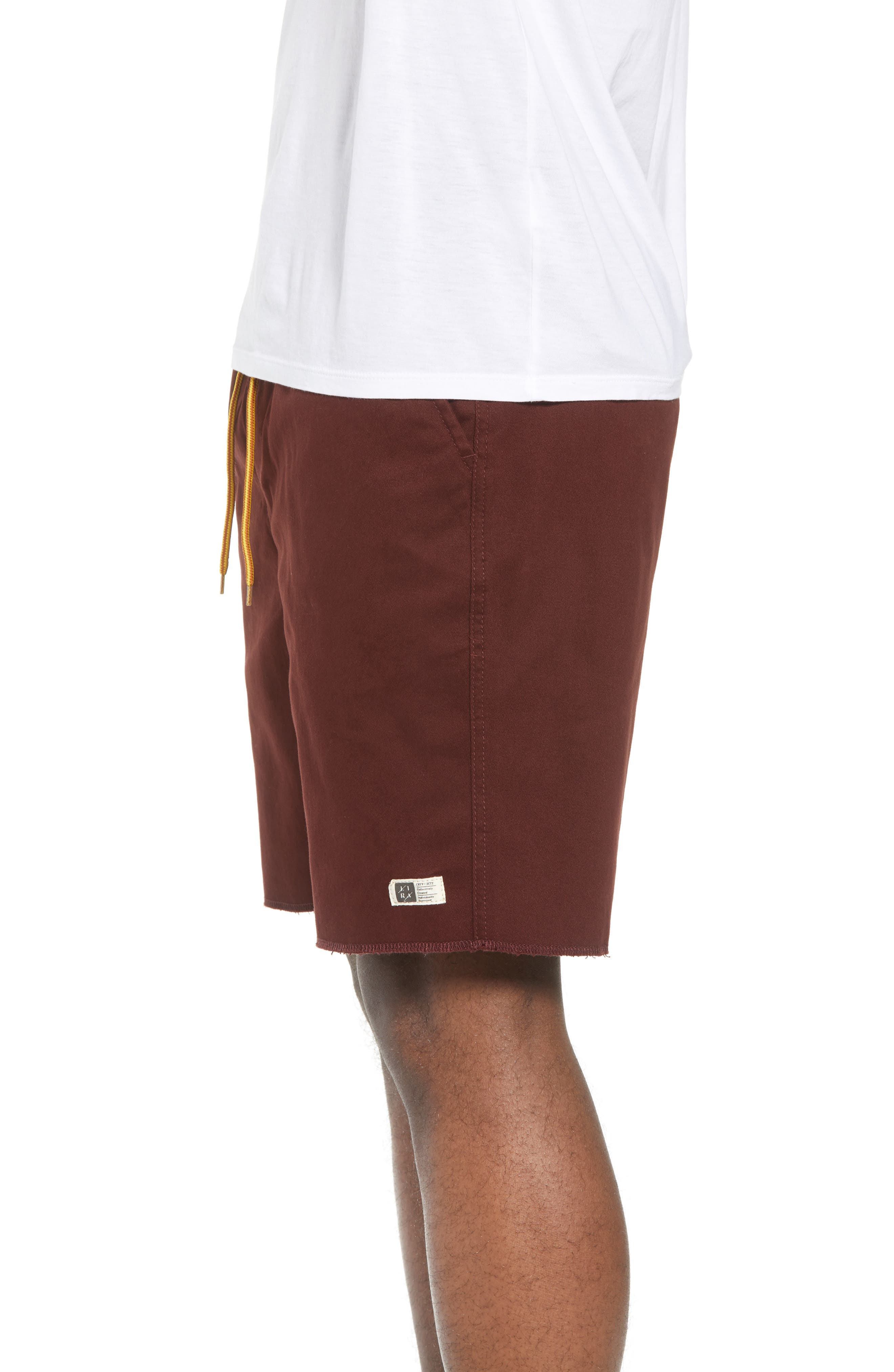 Weekday Shorts,                             Alternate thumbnail 3, color,                             BURGUNDY