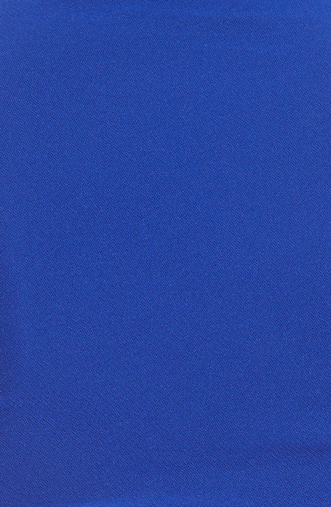 Tulle Turtleneck Midi Dress,                             Alternate thumbnail 5, color,                             434