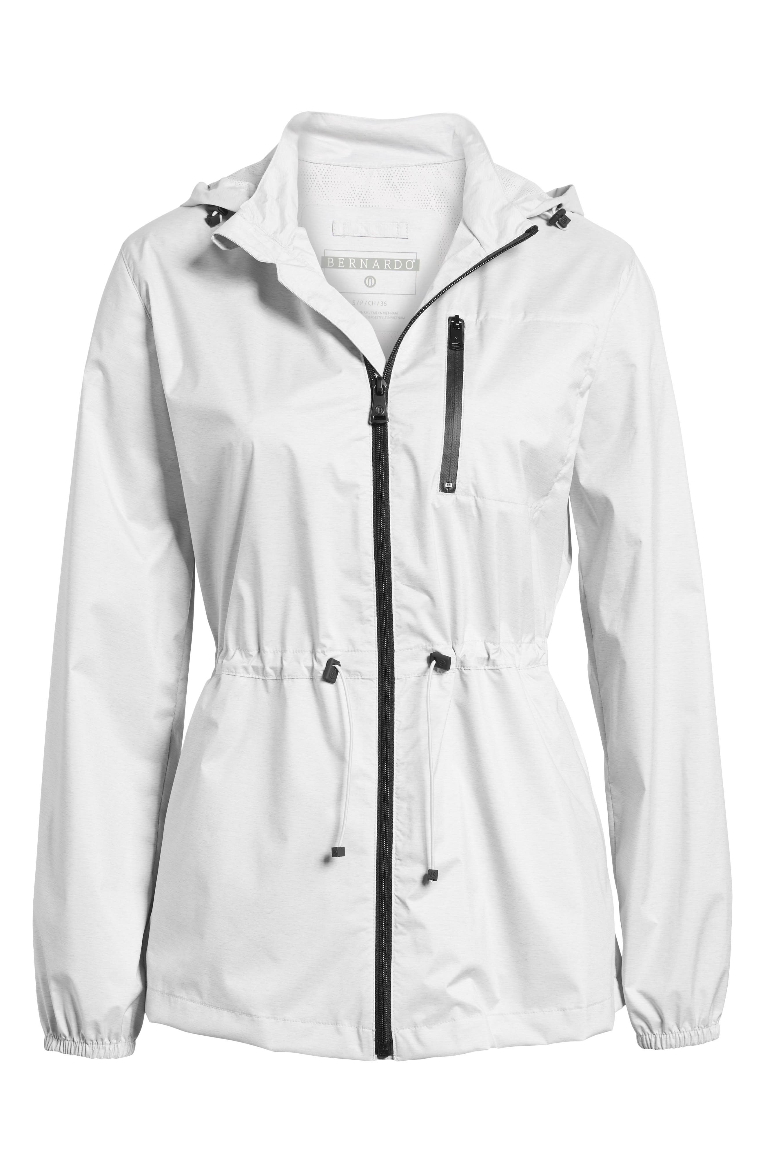 Microbreathable Hooded Water Resistant Jacket,                             Alternate thumbnail 5, color,                             073