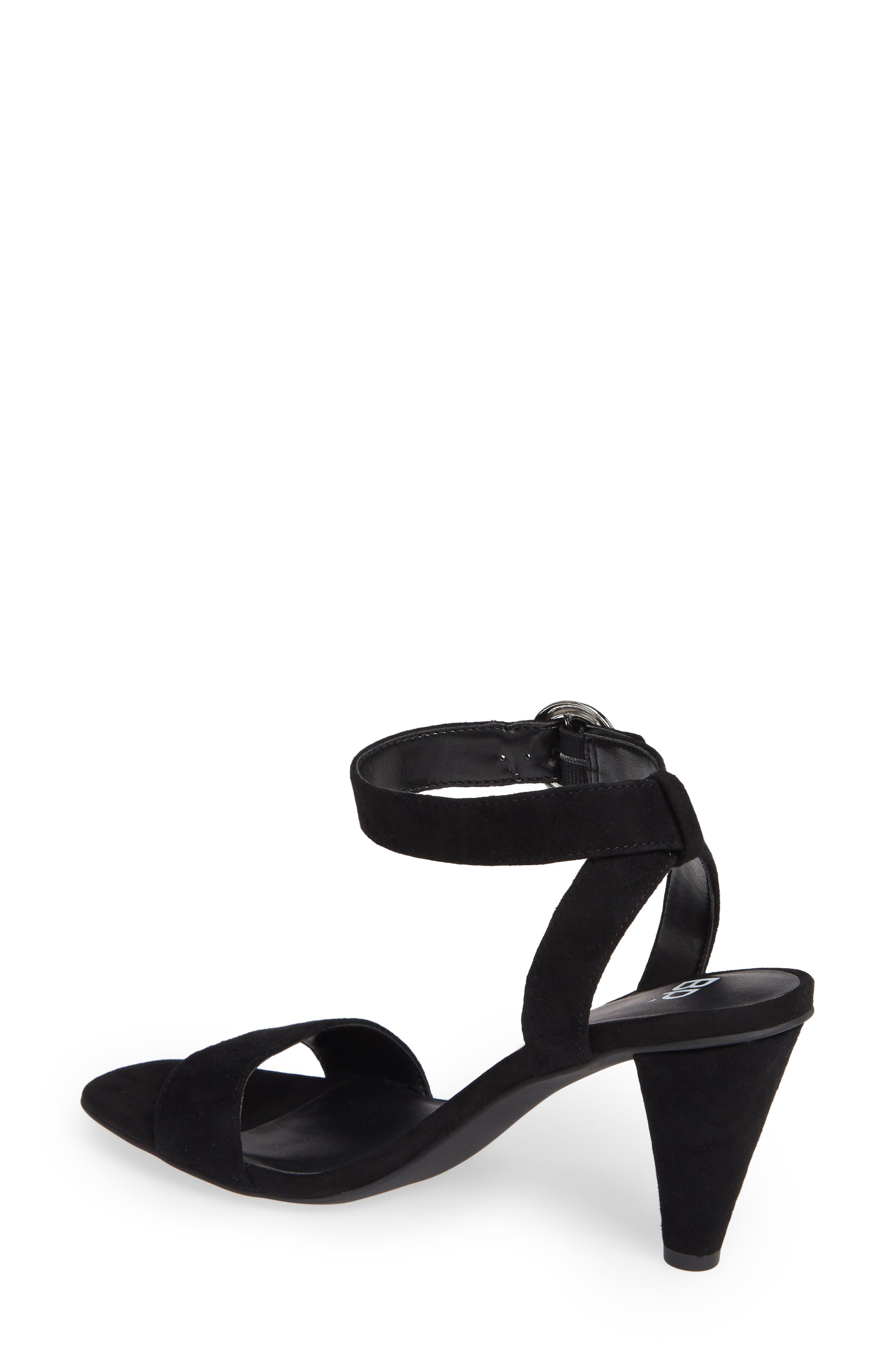 Cleo Cone Heel Sandal,                             Alternate thumbnail 2, color,                             BLACK SUEDE