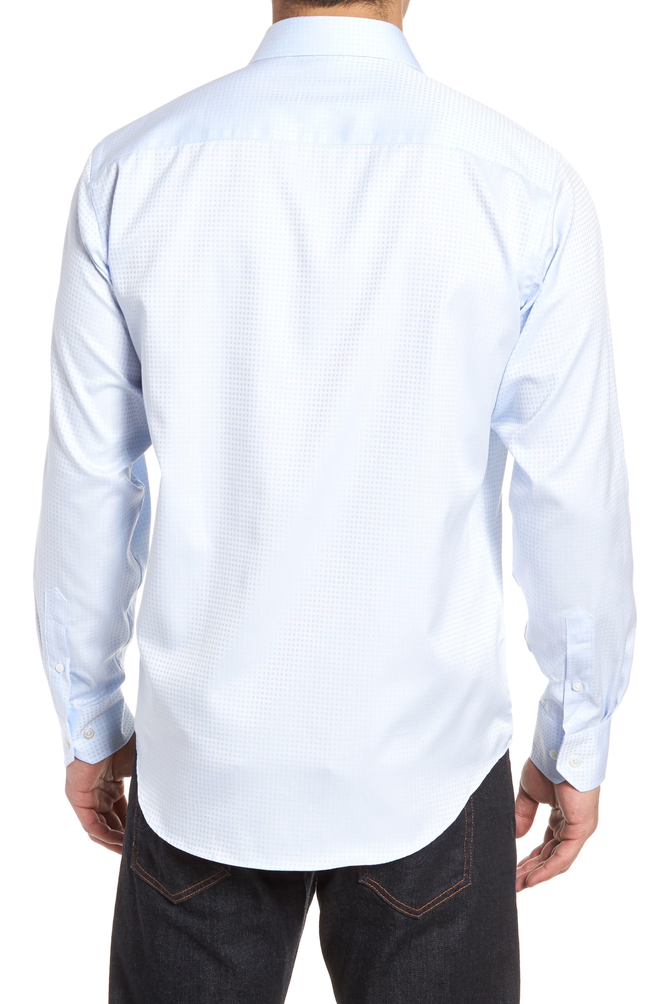 Classic Fit Pin Check Jacquard Sport Shirt,                             Alternate thumbnail 2, color,                             459