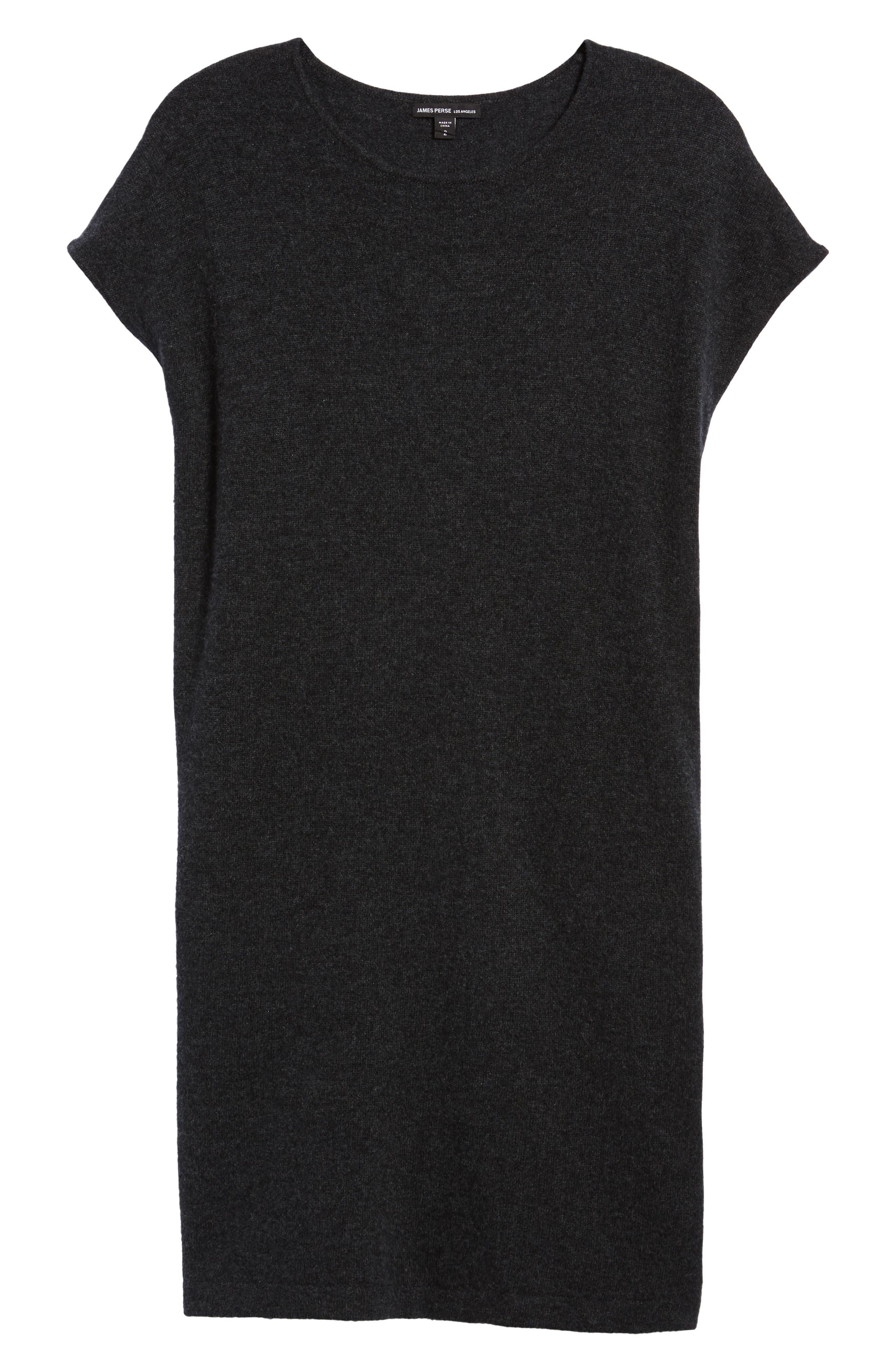 Cashmere Tunic Sweater Dress,                             Alternate thumbnail 6, color,