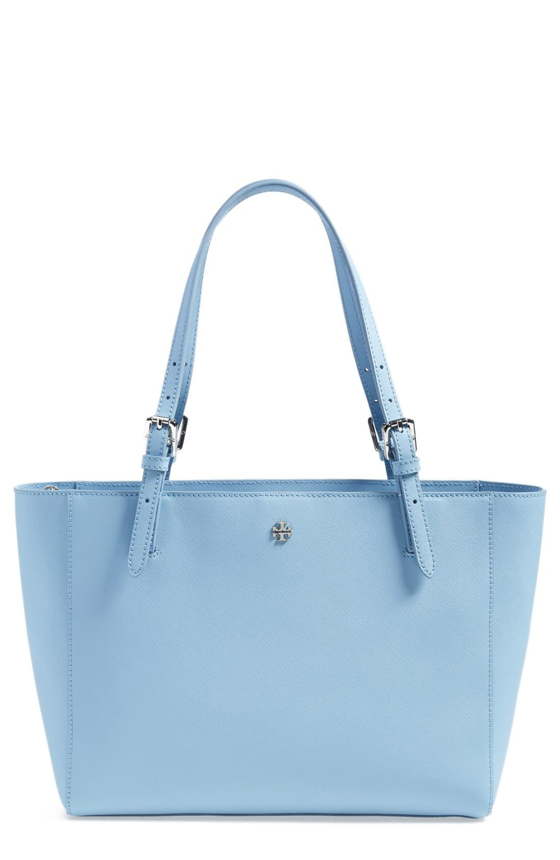 'Small York' Saffiano Leather Buckle Tote,                             Main thumbnail 9, color,