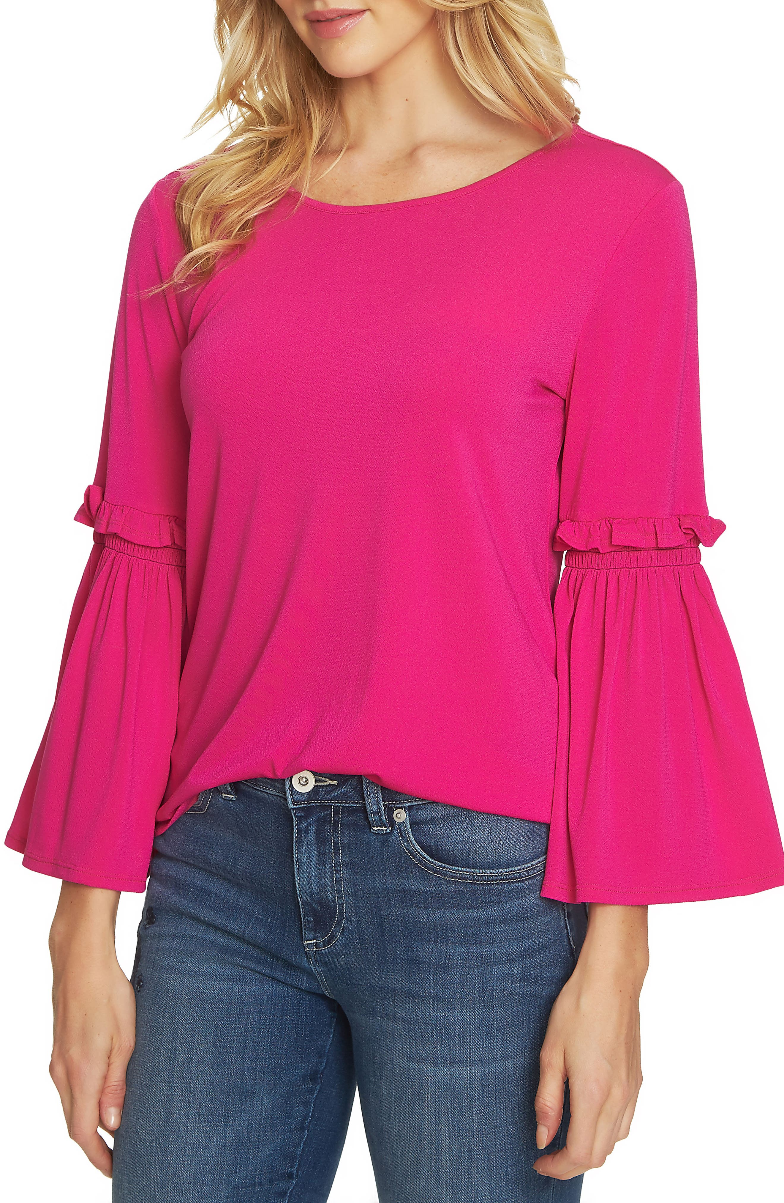 Bell Sleeve Knit Top,                             Main thumbnail 2, color,