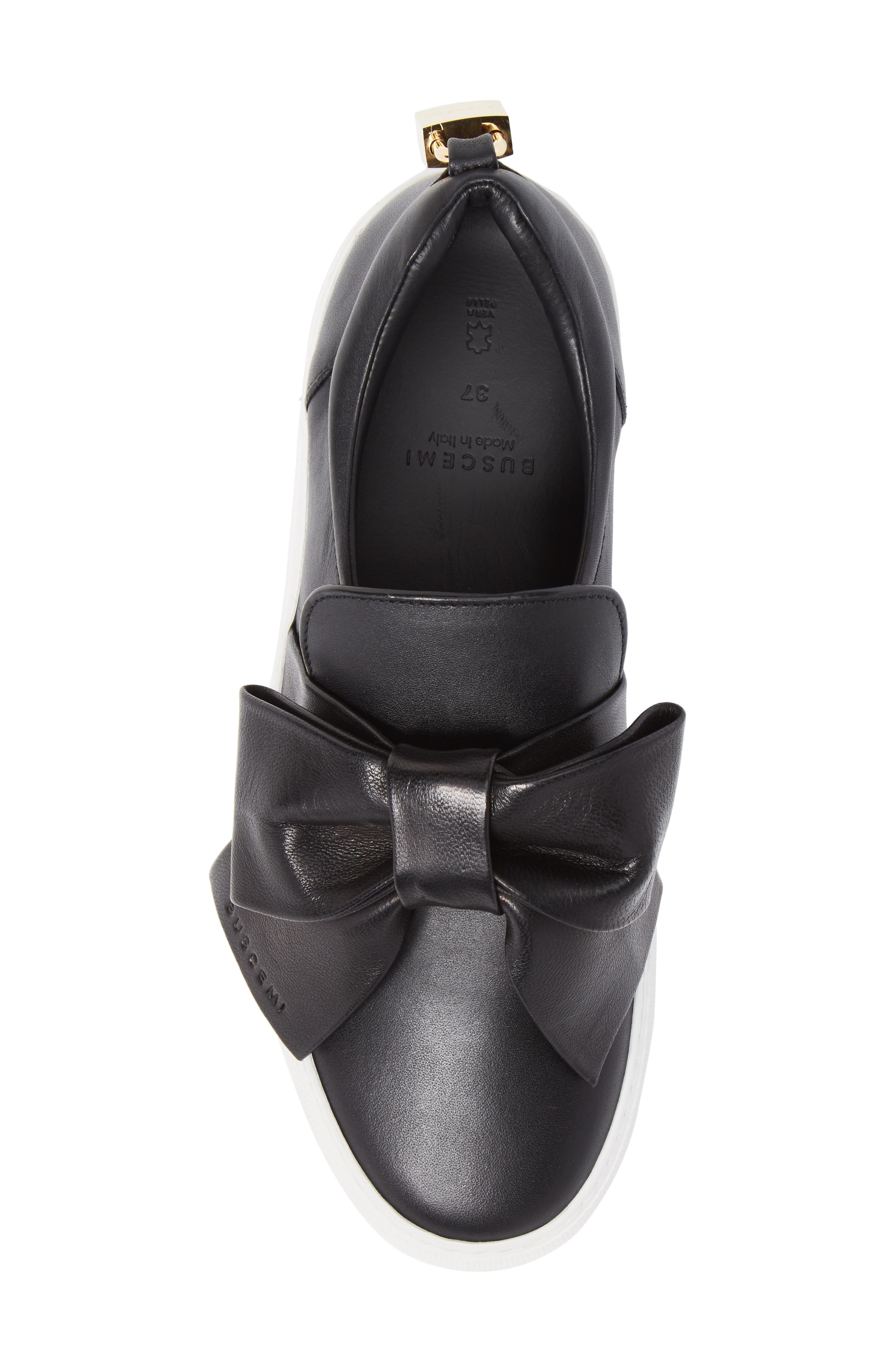 Bow Slip-On Sneaker,                             Alternate thumbnail 5, color,                             001