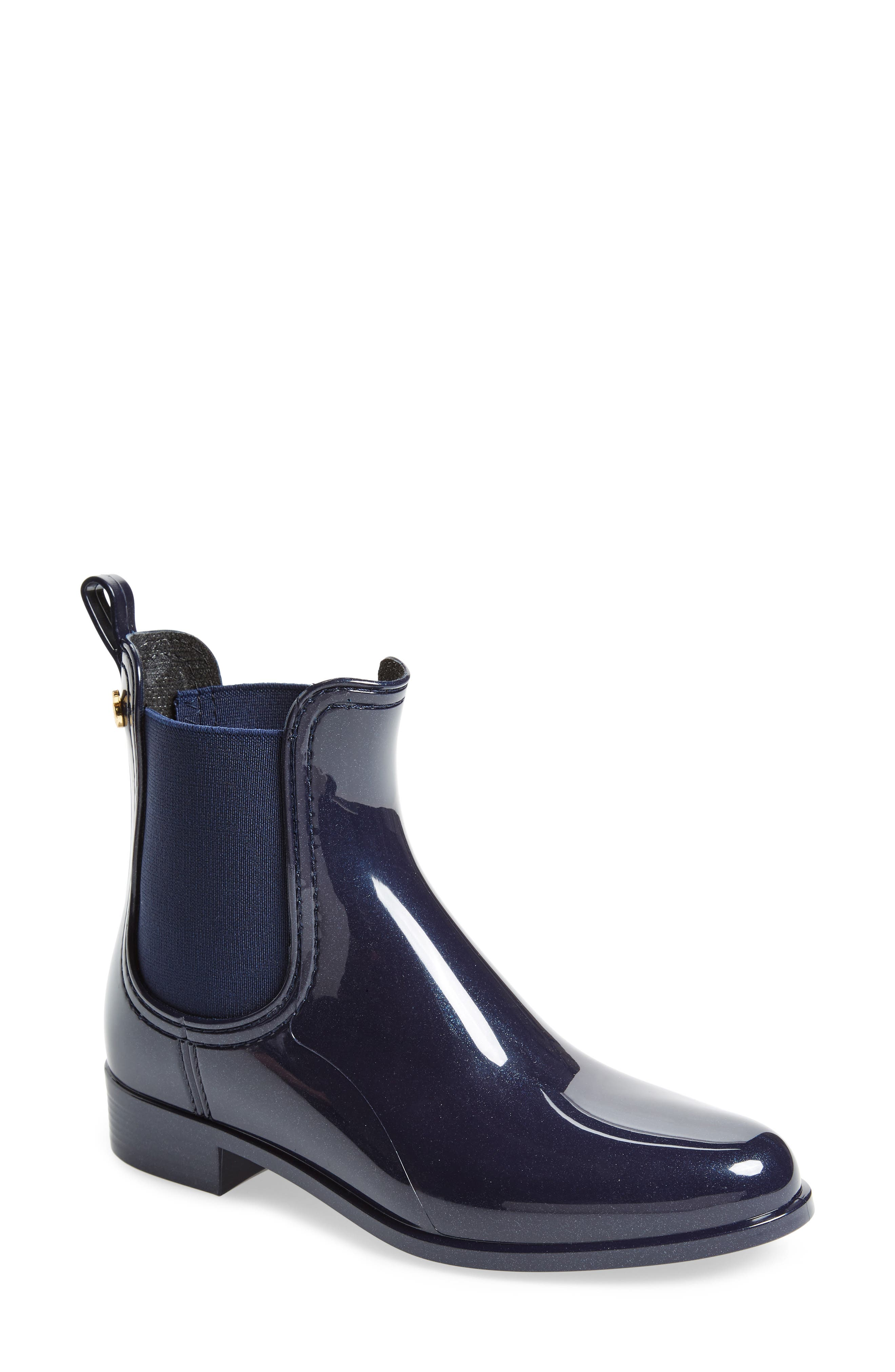 Comfy Waterproof Chelsea Boot,                         Main,                         color, METAL BLUE MATTE