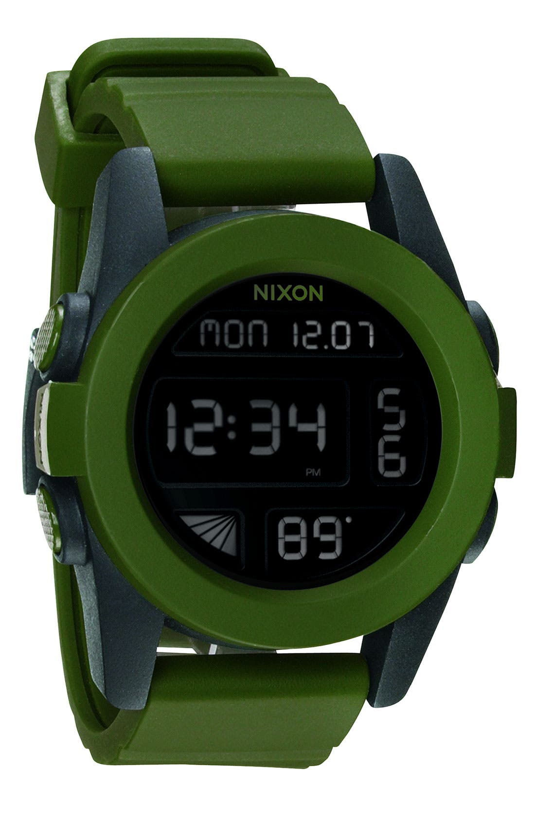 'The Unit' Round Digital Watch, 44mm,                             Main thumbnail 3, color,