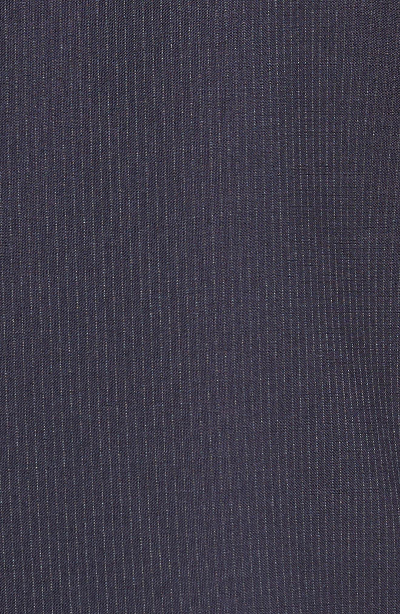 Jay Trim Fit Stripe Wool Suit,                             Alternate thumbnail 8, color,                             NAVY