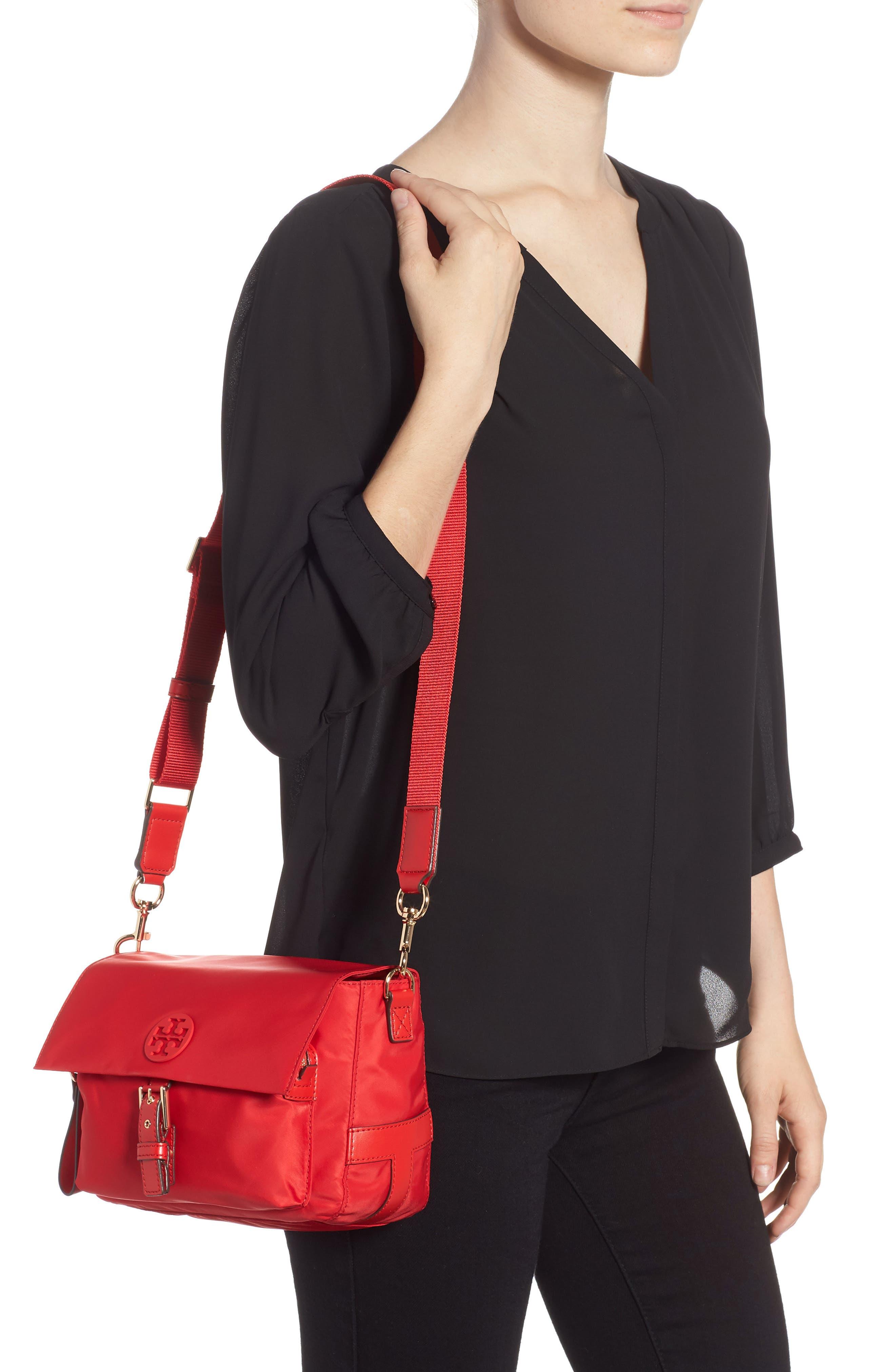 Tilda Nylon Crossbody Bag,                             Alternate thumbnail 2, color,                             BRILLIANT RED