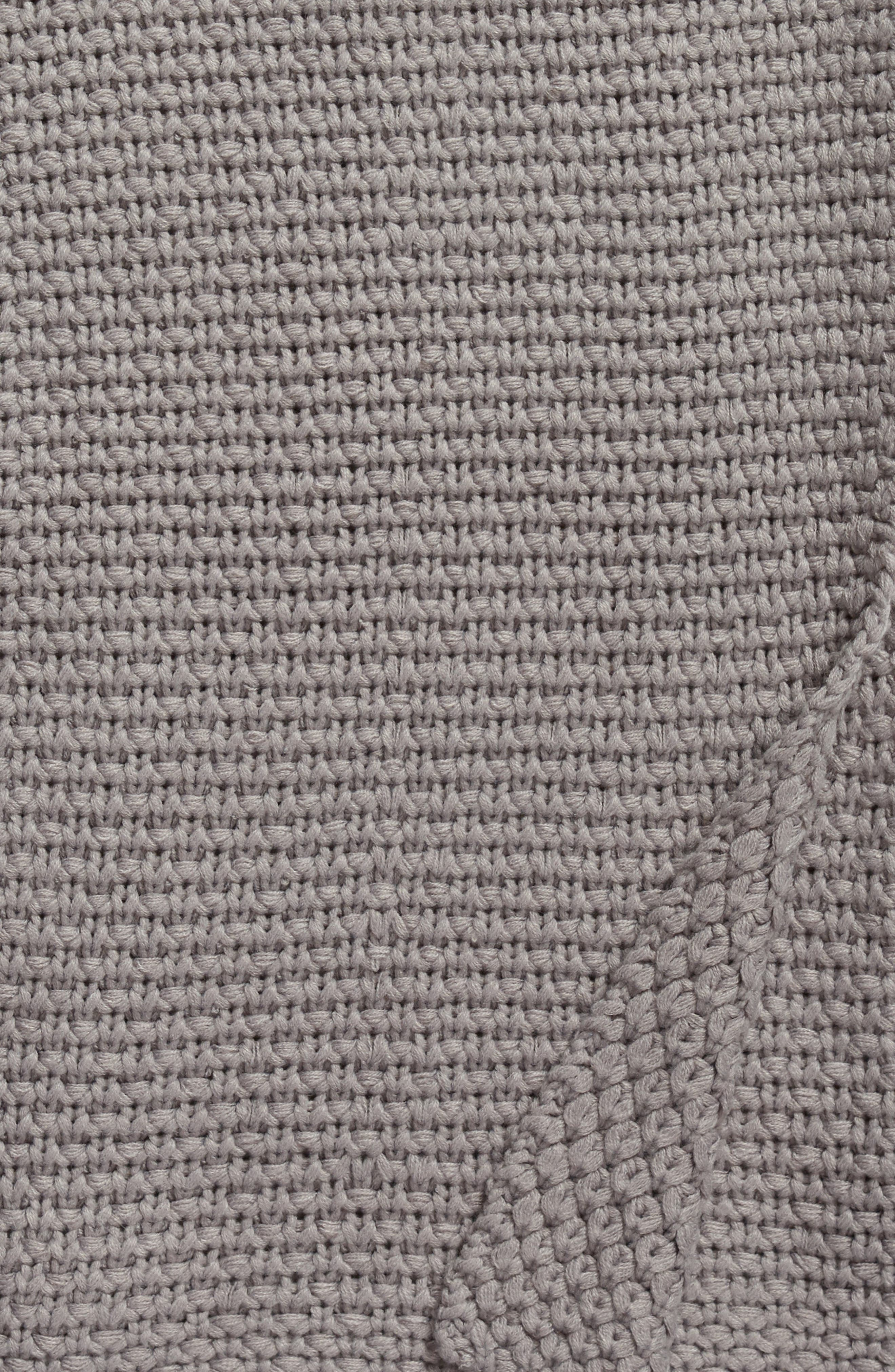 Macramé Throw,                             Alternate thumbnail 2, color,                             020