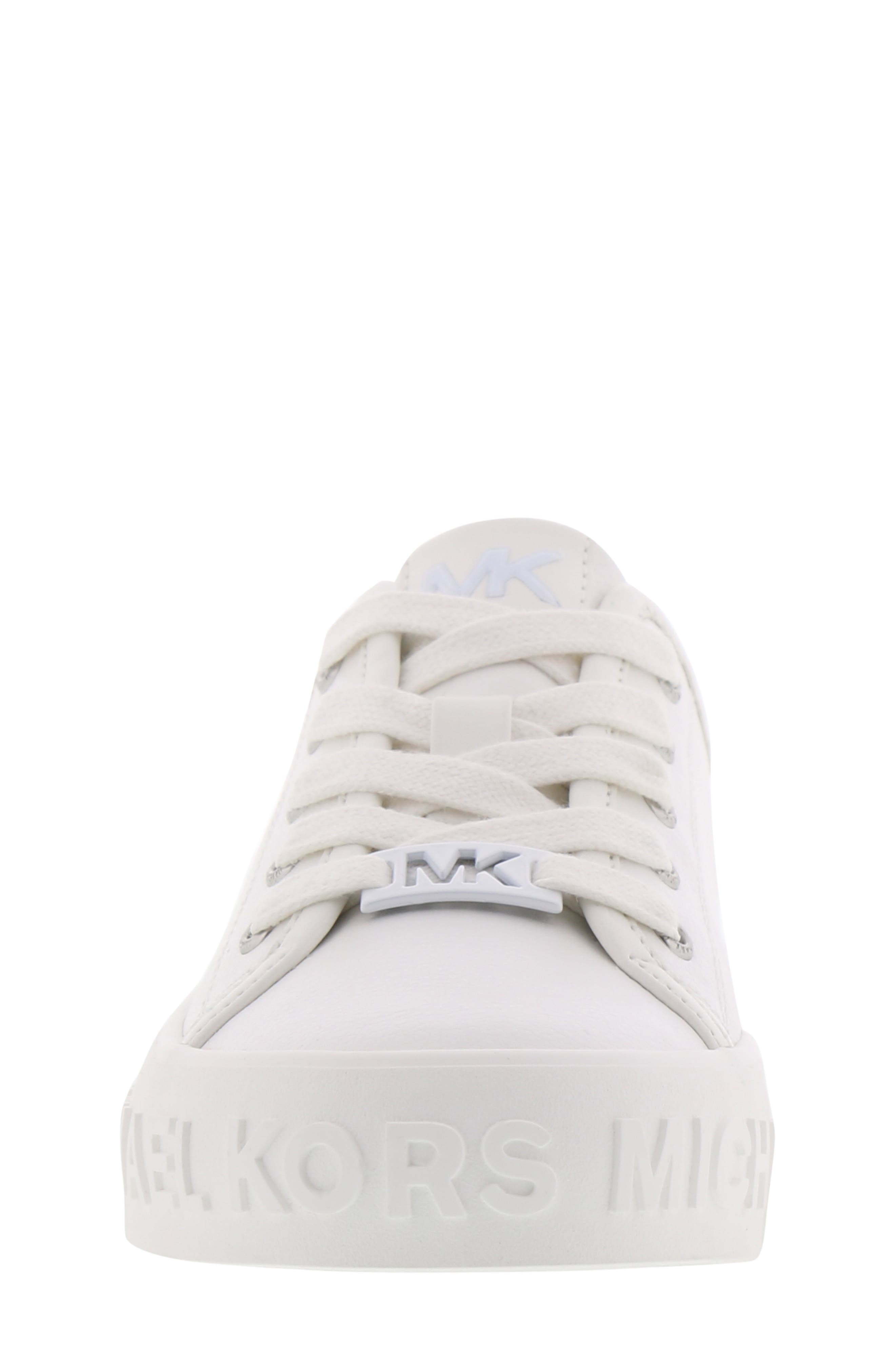 Lemon Spark Logo Sneaker,                             Alternate thumbnail 4, color,                             WHITE