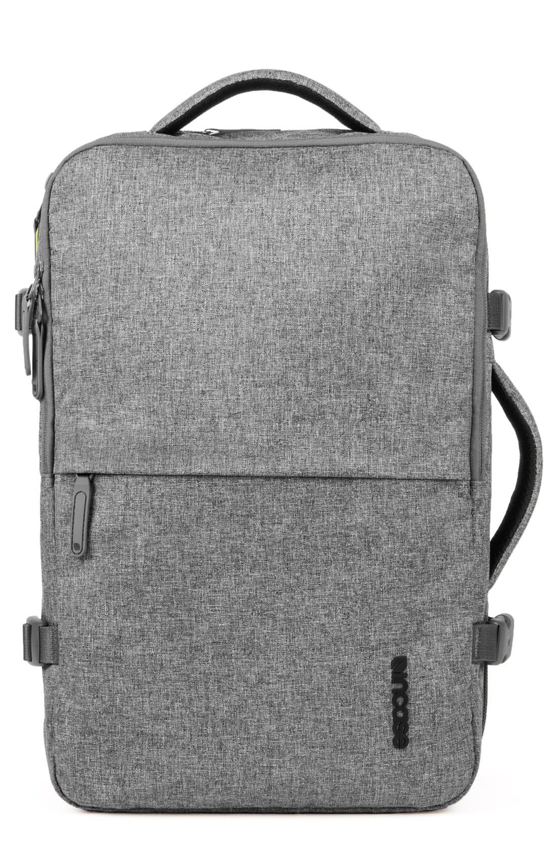 EO Travel Backpack,                         Main,                         color, HEATHER GREY