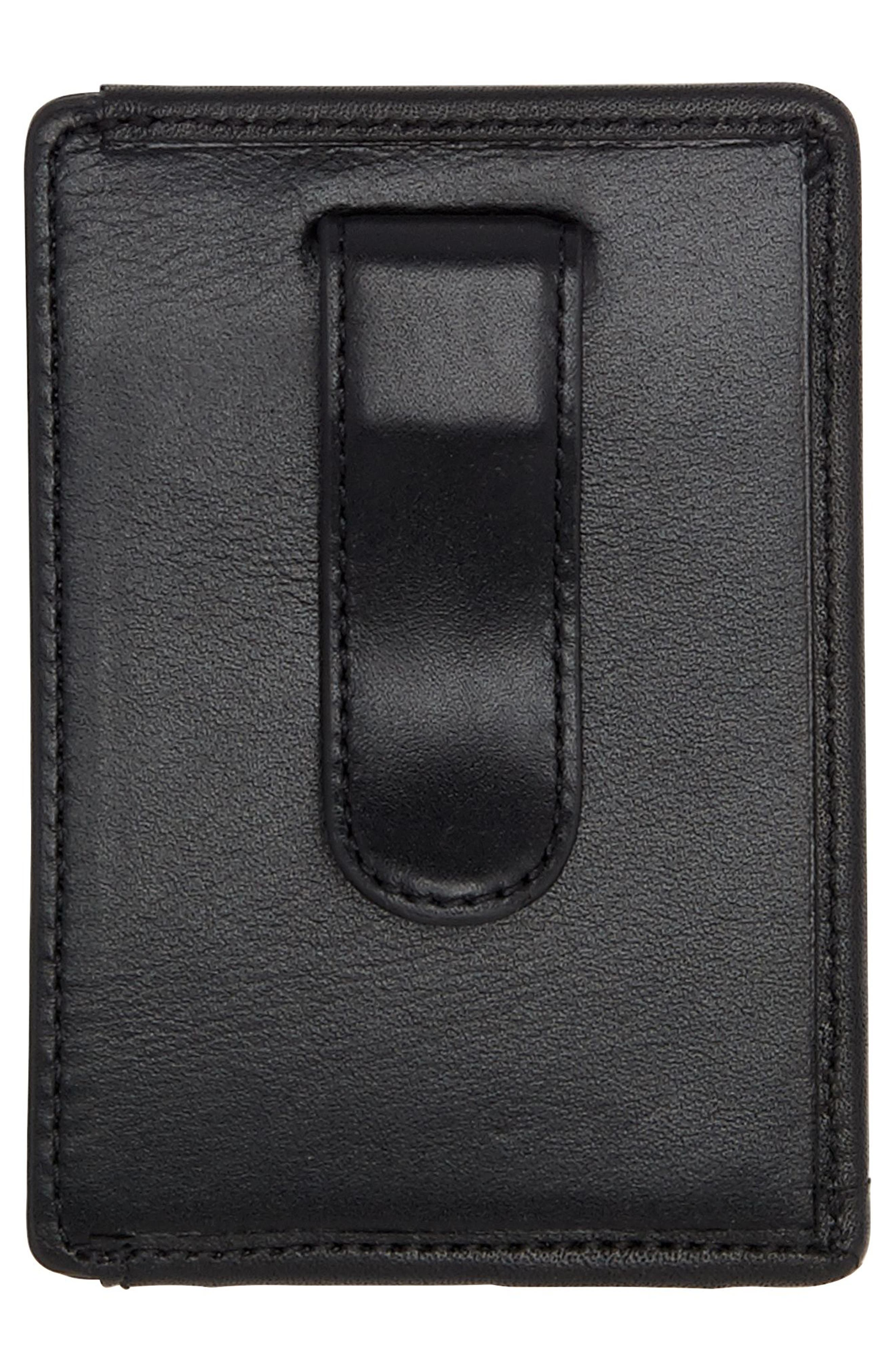 Alpha Money Clip Card Case,                             Alternate thumbnail 2, color,                             ANTHRACITE/ BLACK