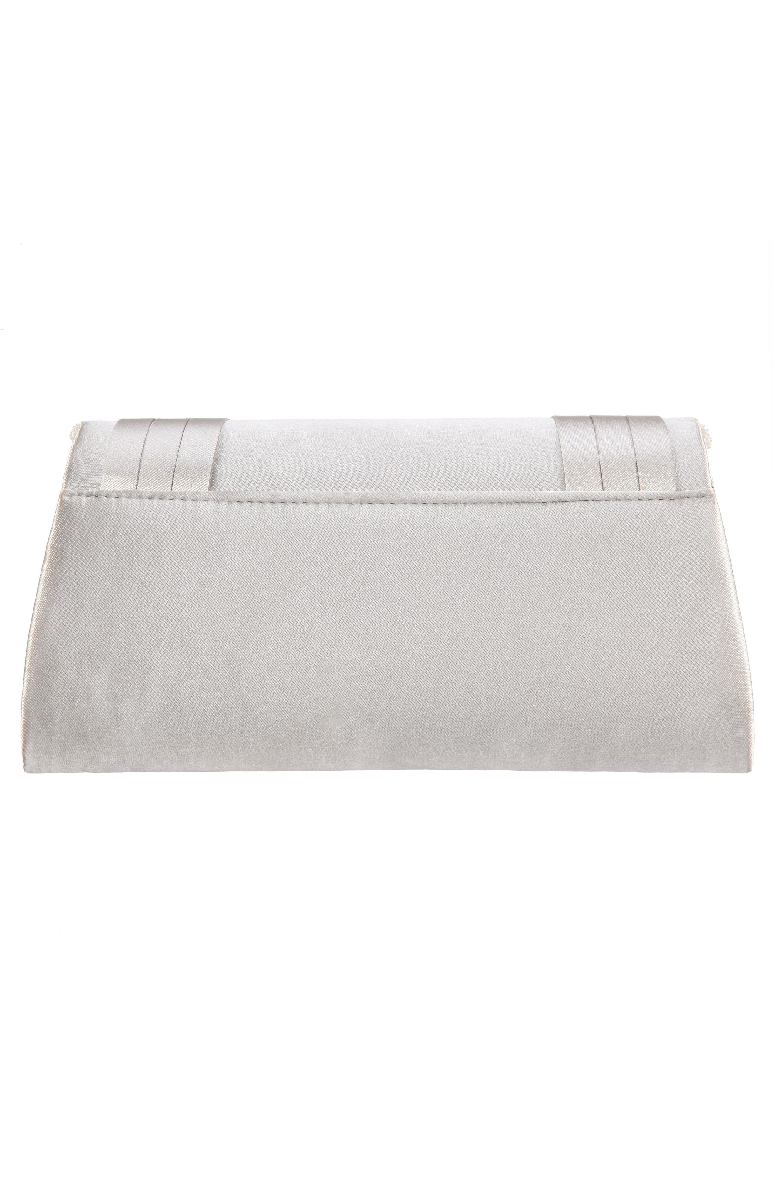 Avis Pleated Classic Clutch,                             Alternate thumbnail 2, color,                             OYSTER
