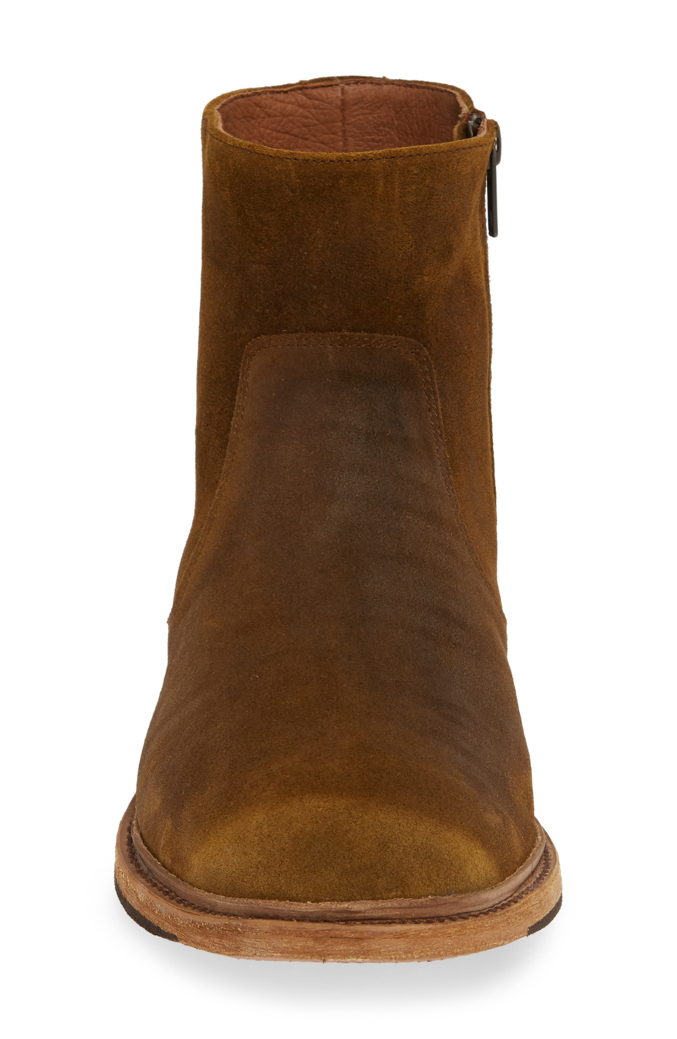 Paul Zip Boot,                             Alternate thumbnail 4, color,                             TAN SUEDE