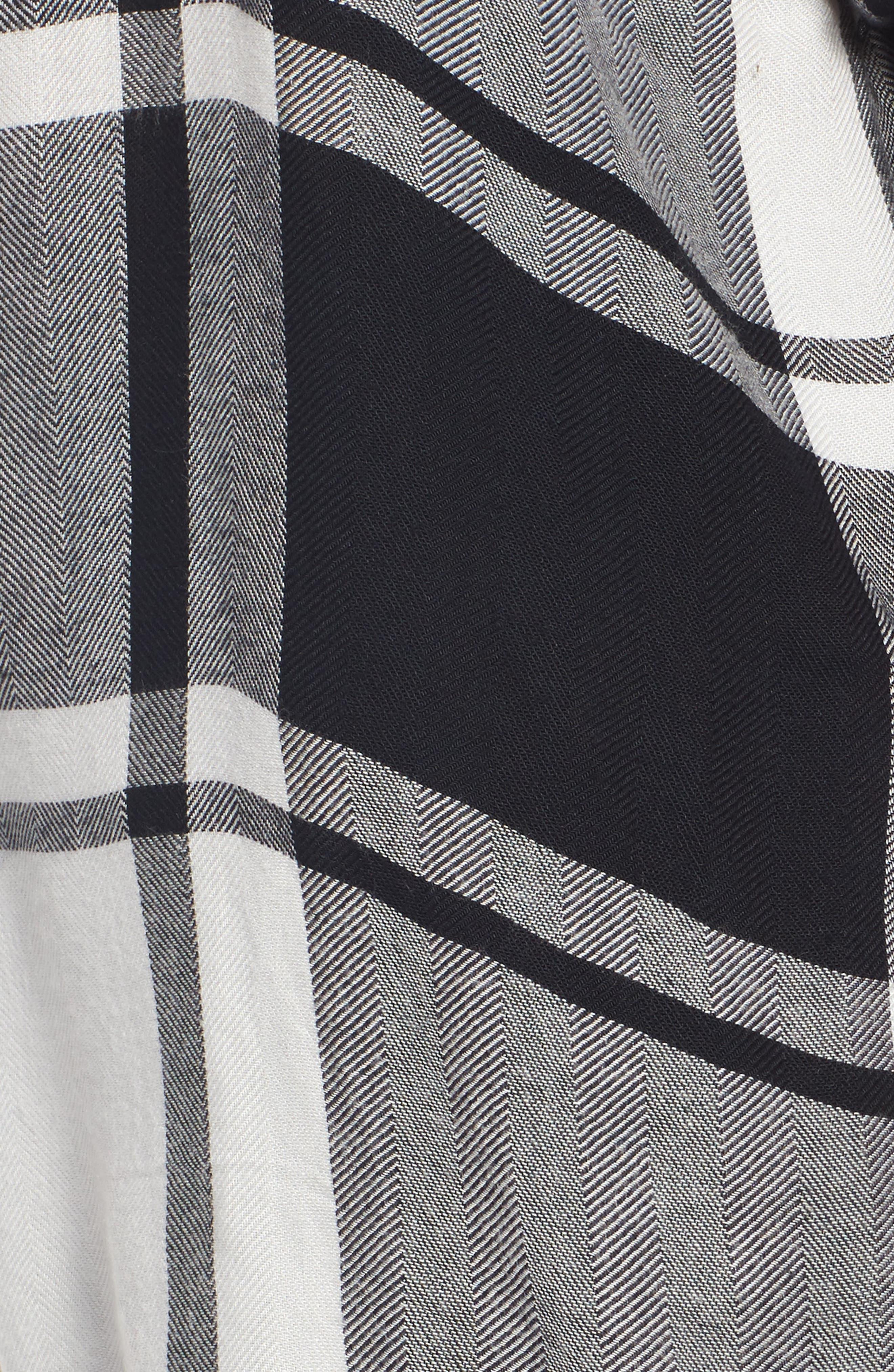 Oversized Plaid Tunic,                             Alternate thumbnail 5, color,                             001