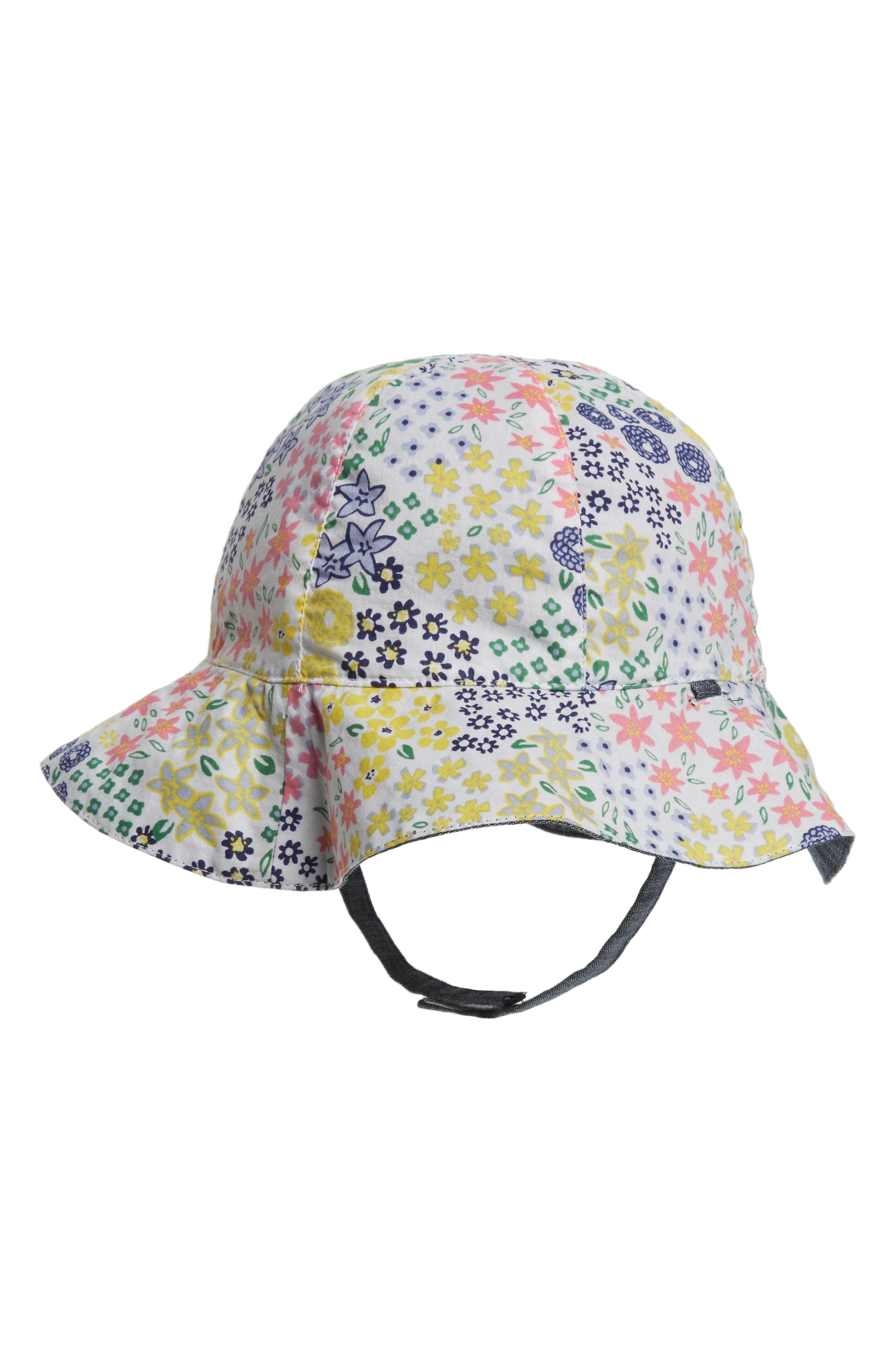 Reversible Sun Hat,                             Alternate thumbnail 2, color,                             WHITE MULTI MEADOW