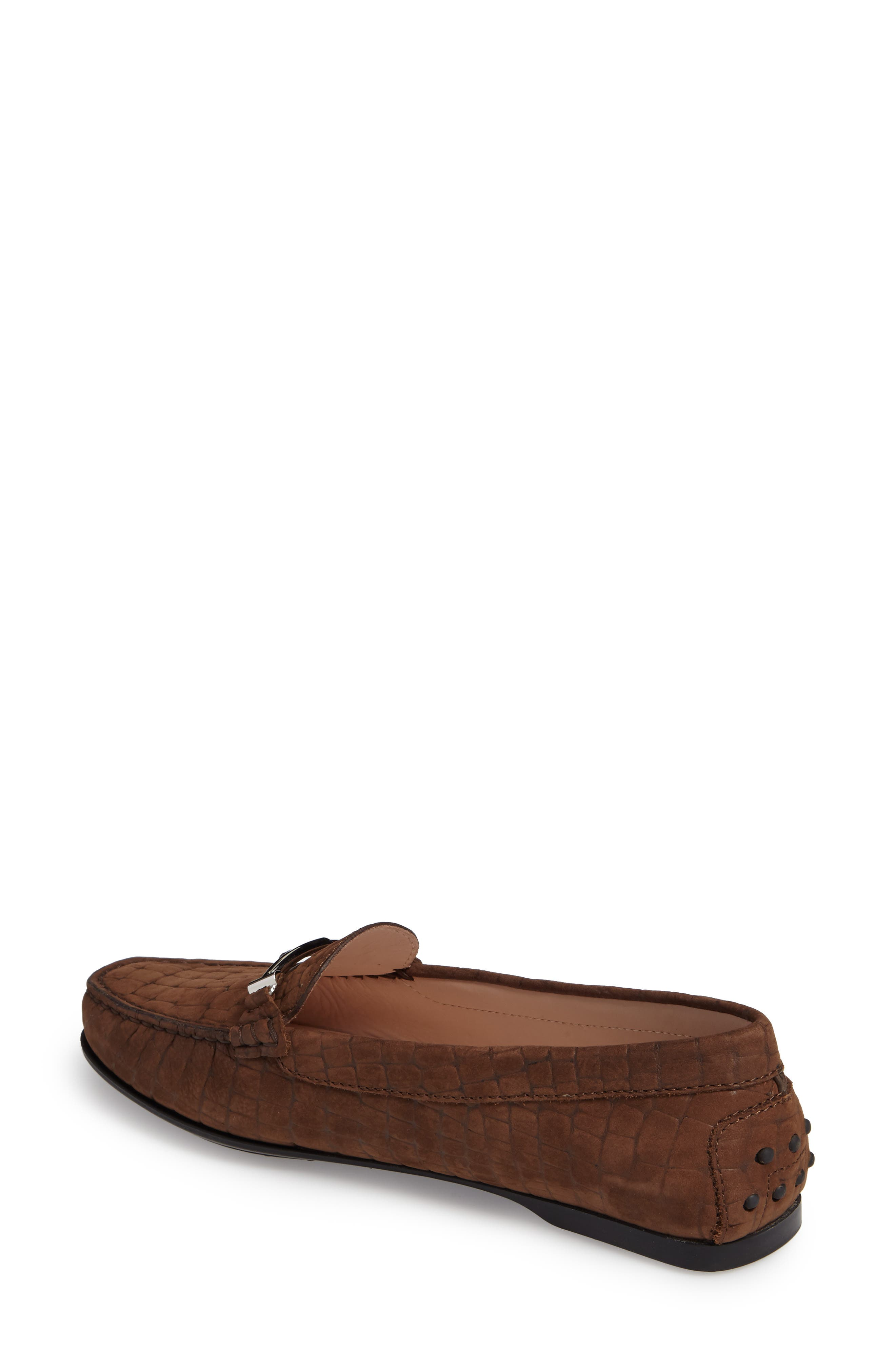 Tods Croc Embossed Double T Loafer,                             Alternate thumbnail 2, color,                             249