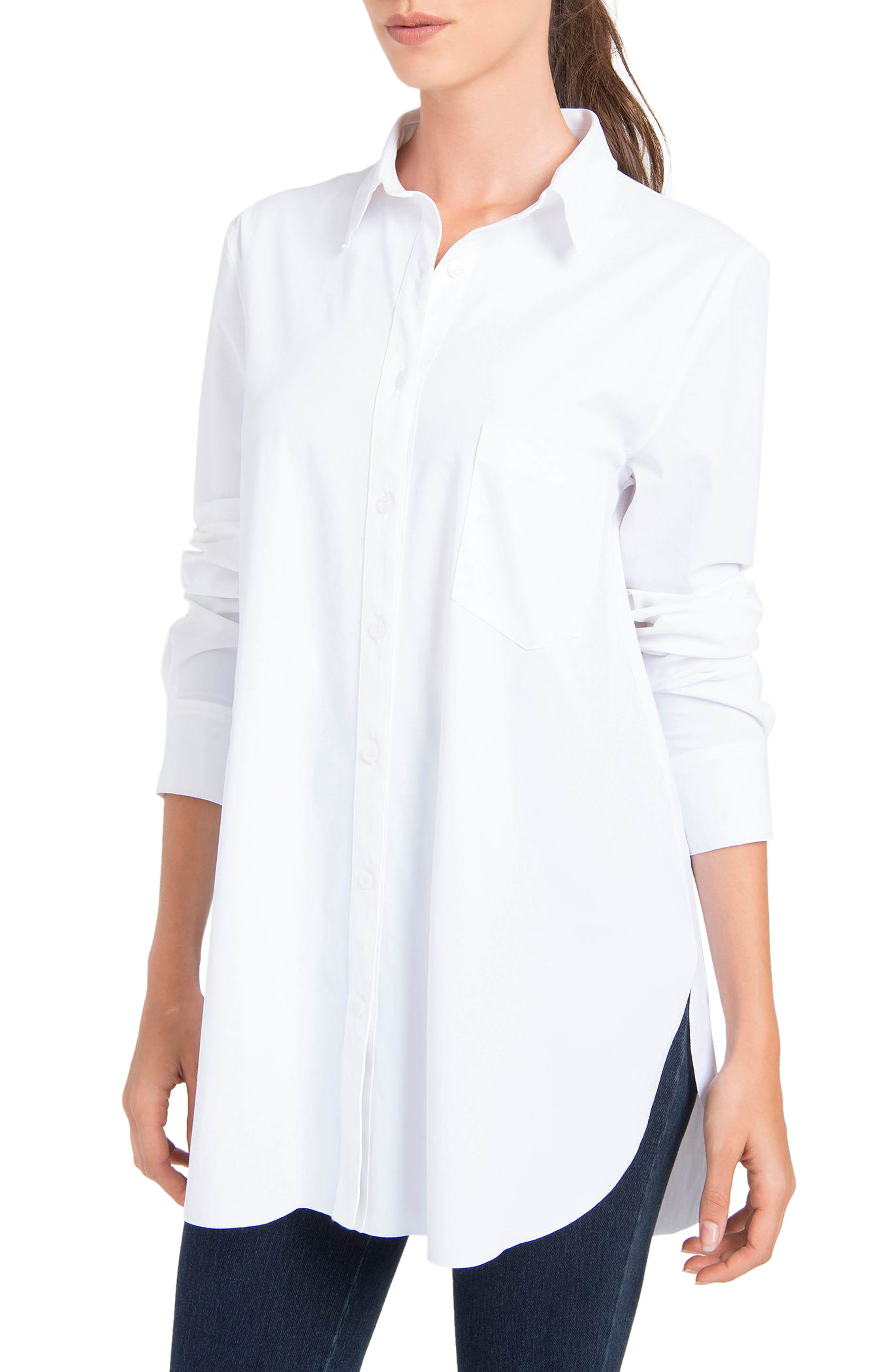 LYSSÉ,                             Schiffer Shirt,                             Main thumbnail 1, color,                             WHITE