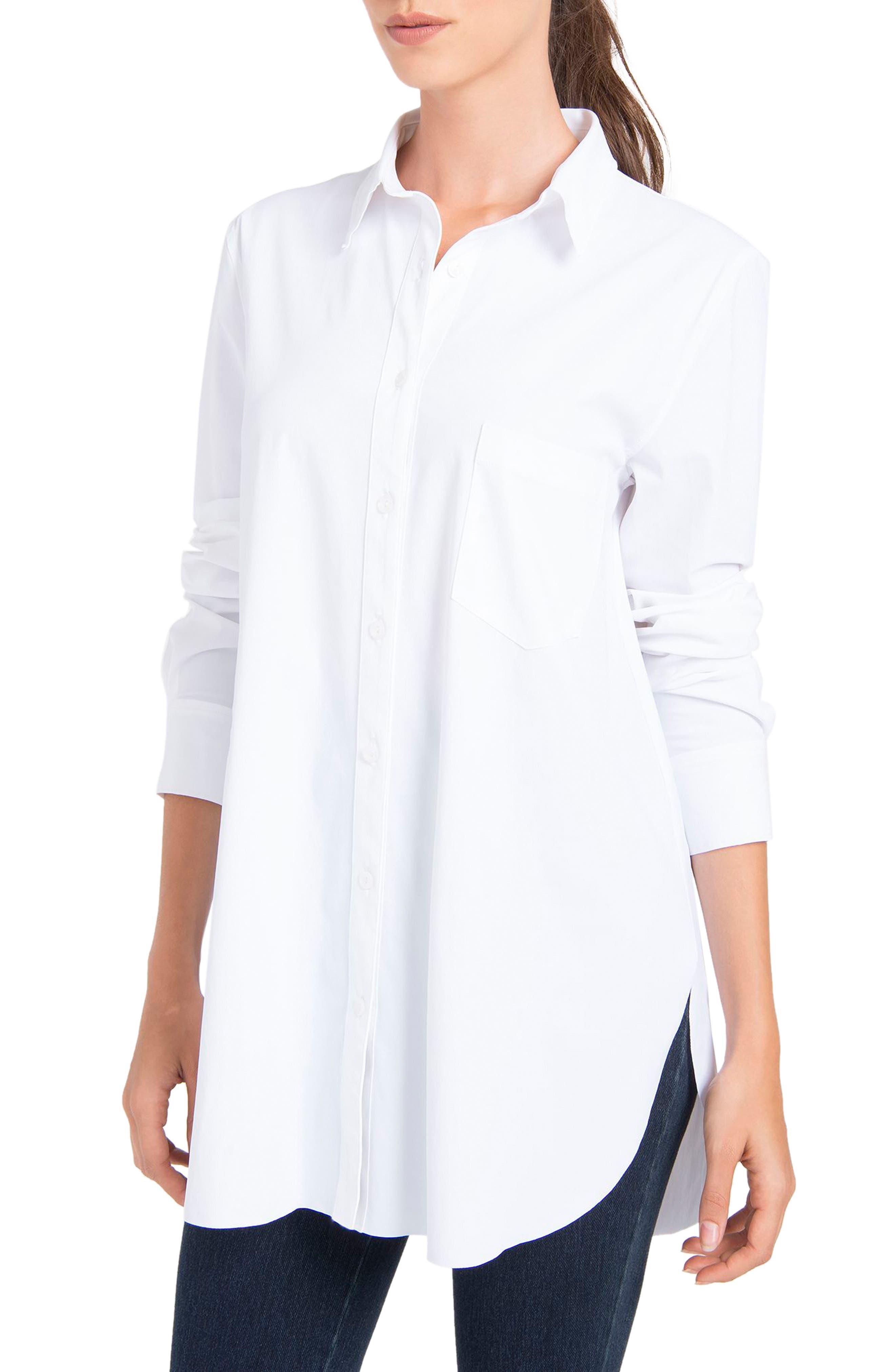 LYSSÉ Schiffer Shirt, Main, color, WHITE
