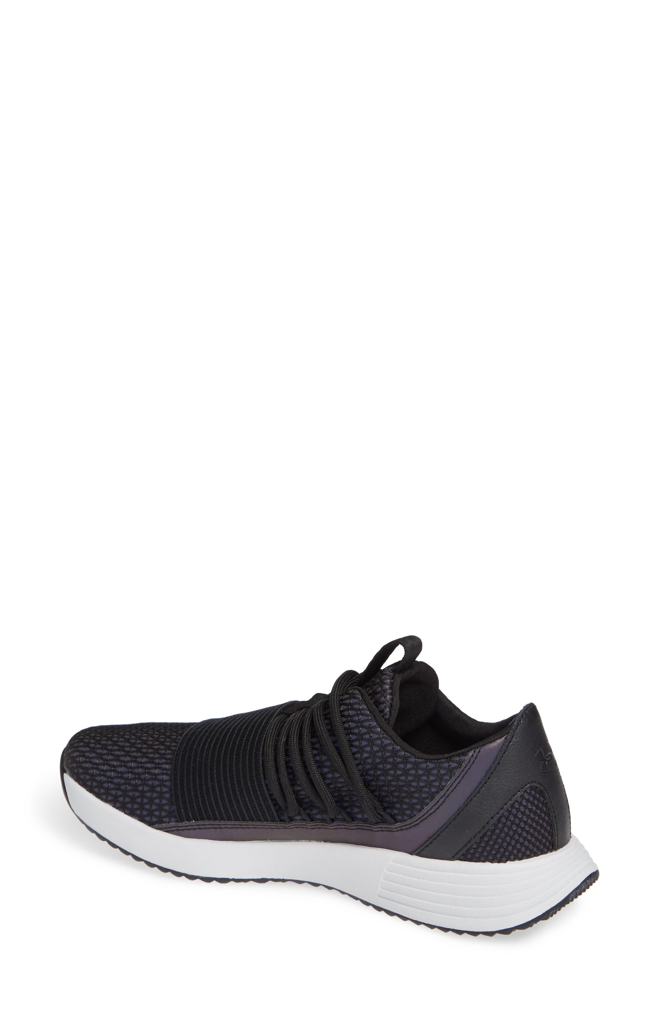 Breathe Reflective Low Top Sneaker,                             Alternate thumbnail 2, color,                             BLACK/ BLACK/ BLACK