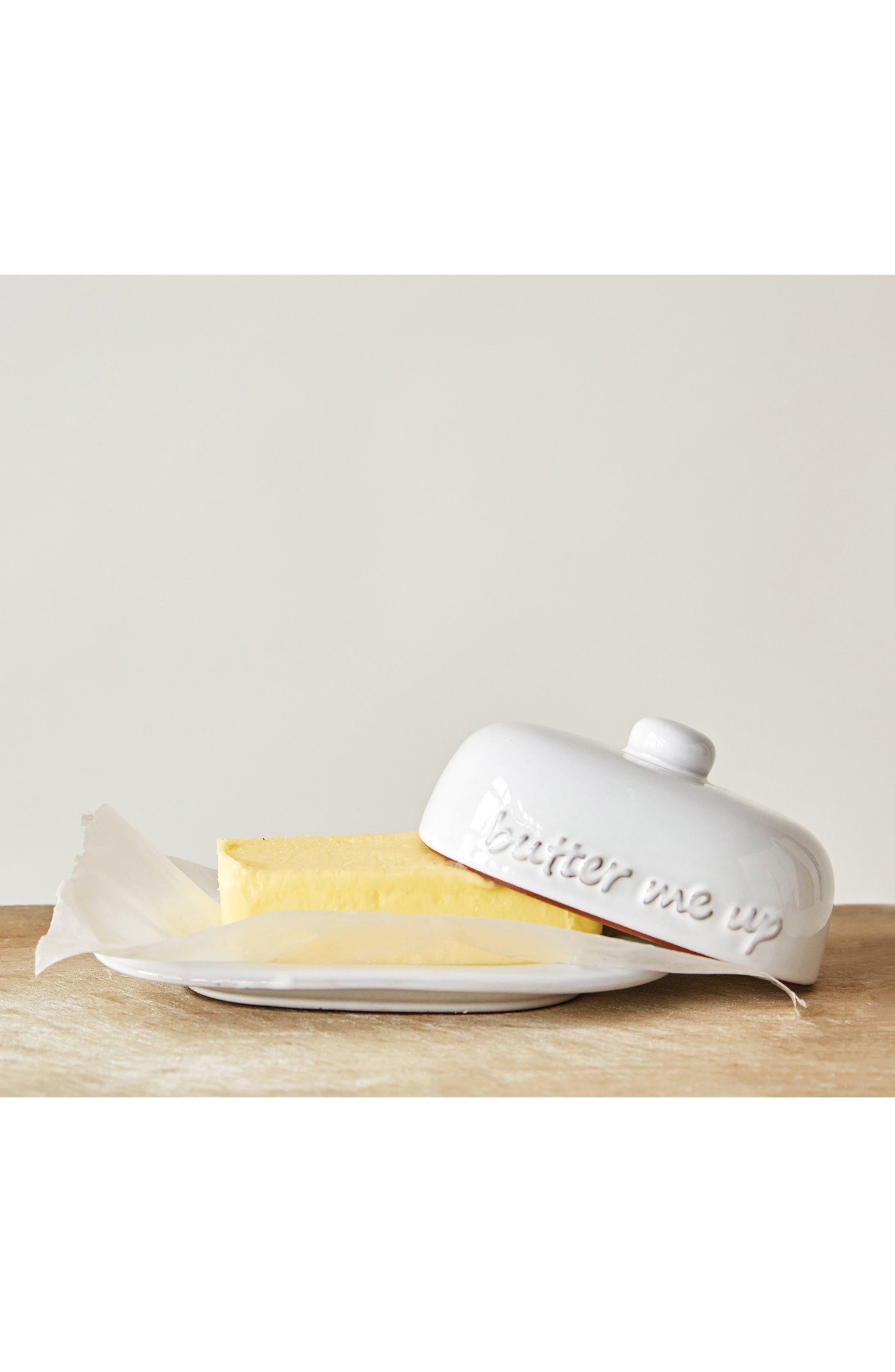 Butter Me Up Ceramic Butter Dish,                             Alternate thumbnail 2, color,                             100