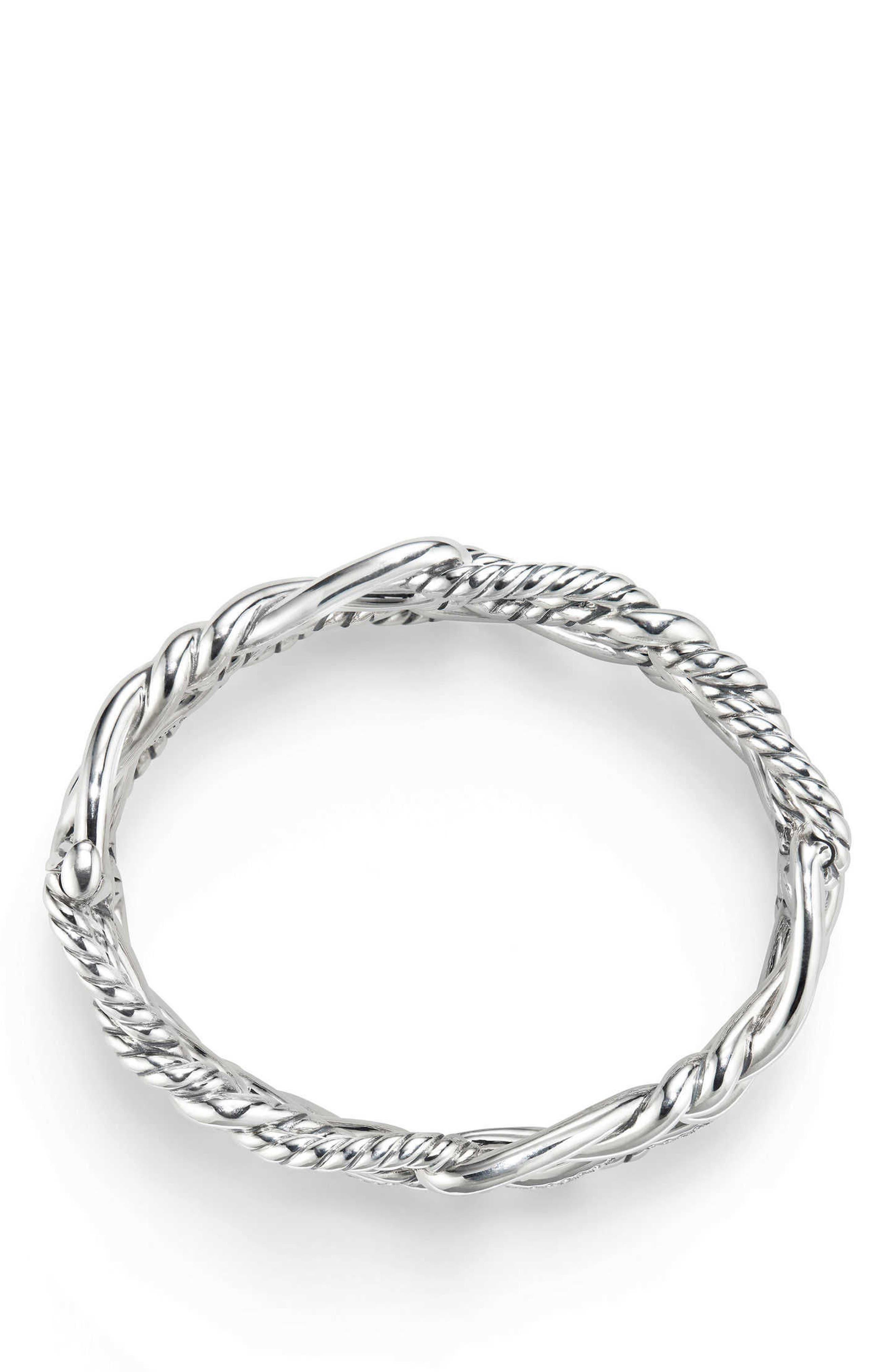 Continuance Multi Row Cuff Bracelet with Diamonds,                             Alternate thumbnail 2, color,                             SILVER/ DIAMOND