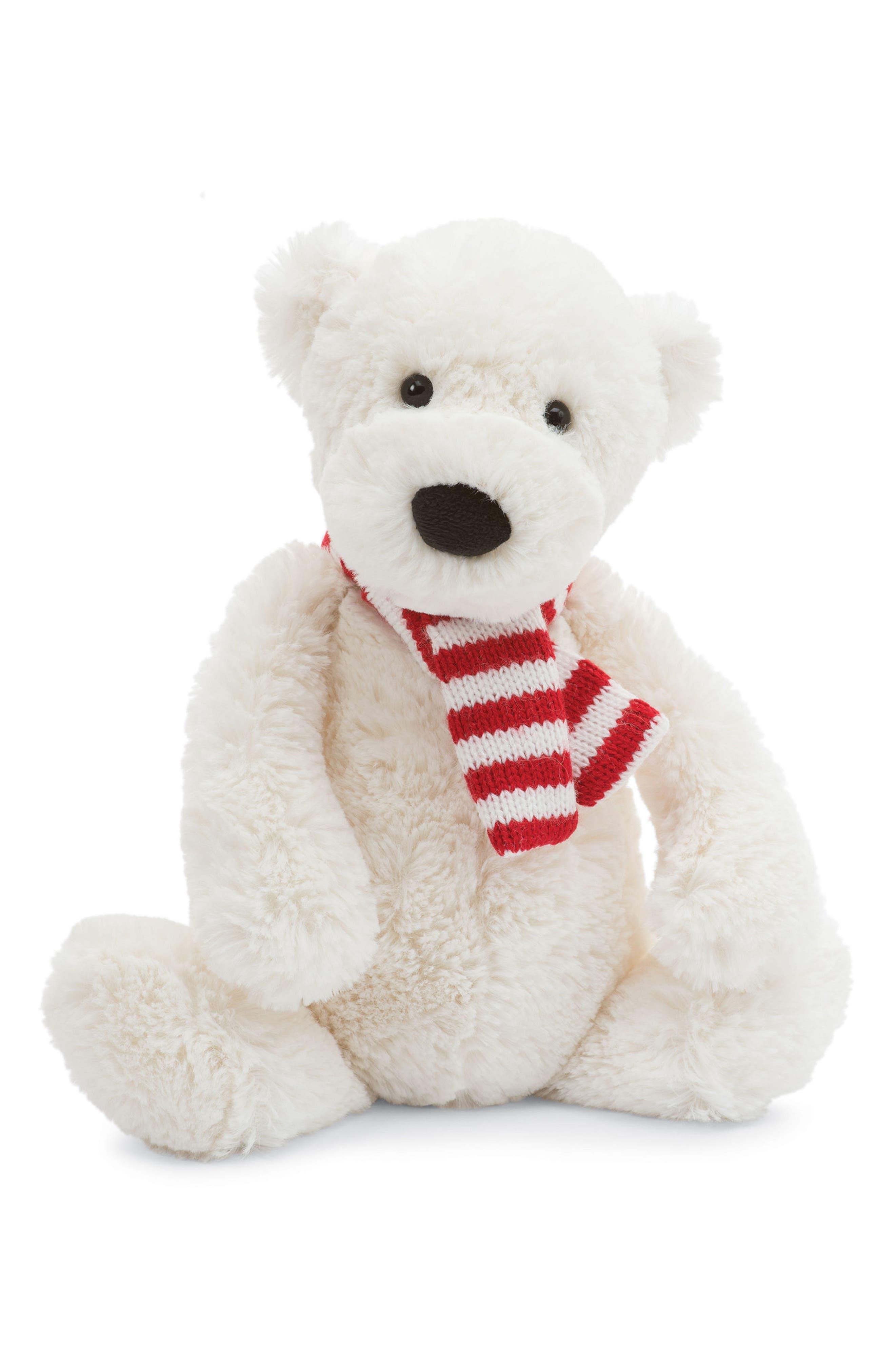 Bashful Pax Polar Bear Stuffed Animal,                             Main thumbnail 1, color,                             POLAR WHITE