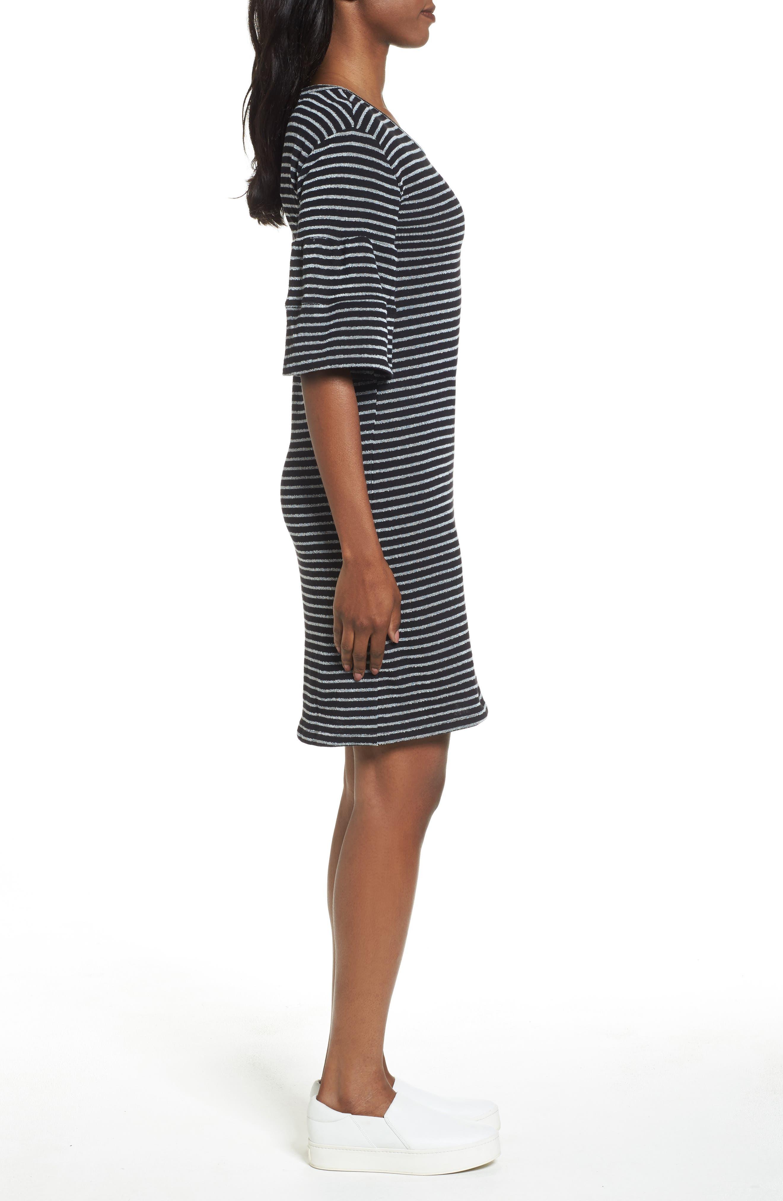 Ruffle Sleeve Knit Dress,                             Alternate thumbnail 8, color,