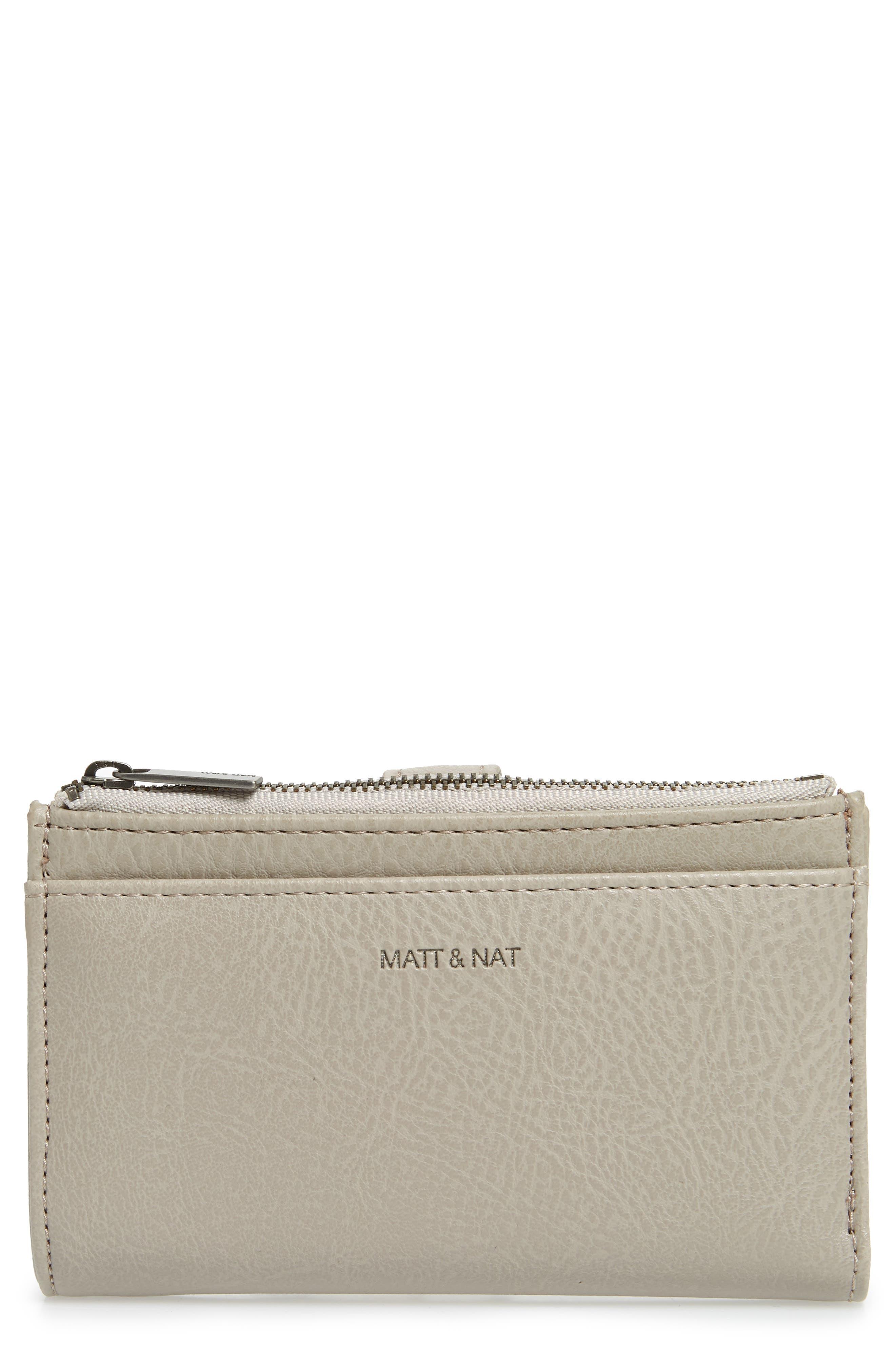 Small Motiv Faux Leather Wallet,                         Main,                         color, CEMENT