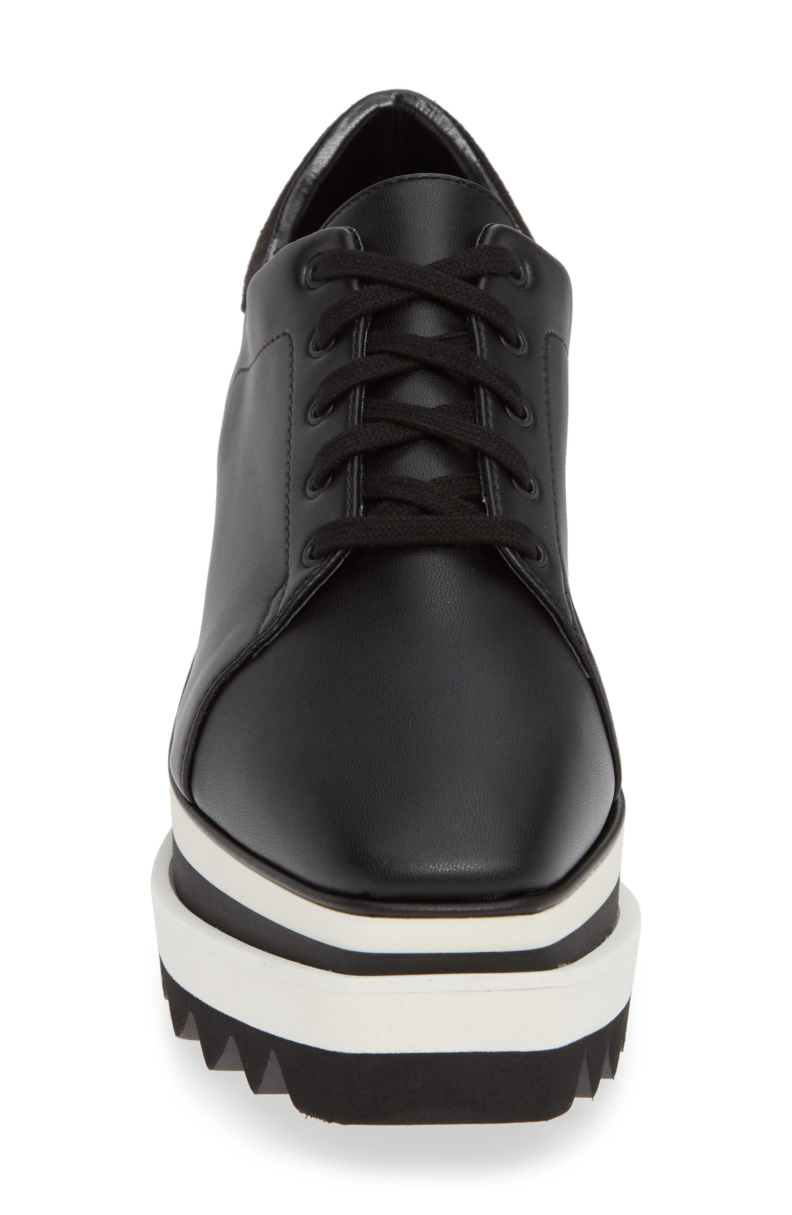 Sneak-Elyse Flatform Sneaker,                             Alternate thumbnail 4, color,                             BLACK