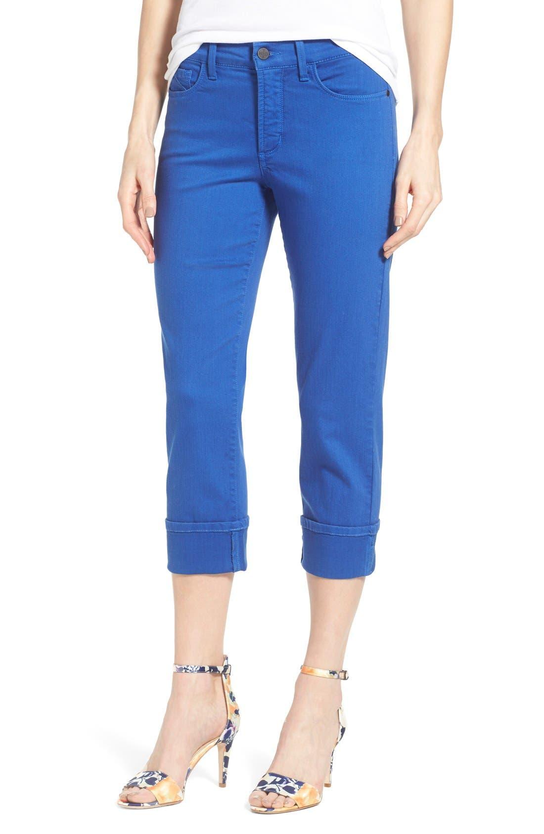 'Dayla' Colored Wide Cuff Capri Jeans,                             Main thumbnail 9, color,
