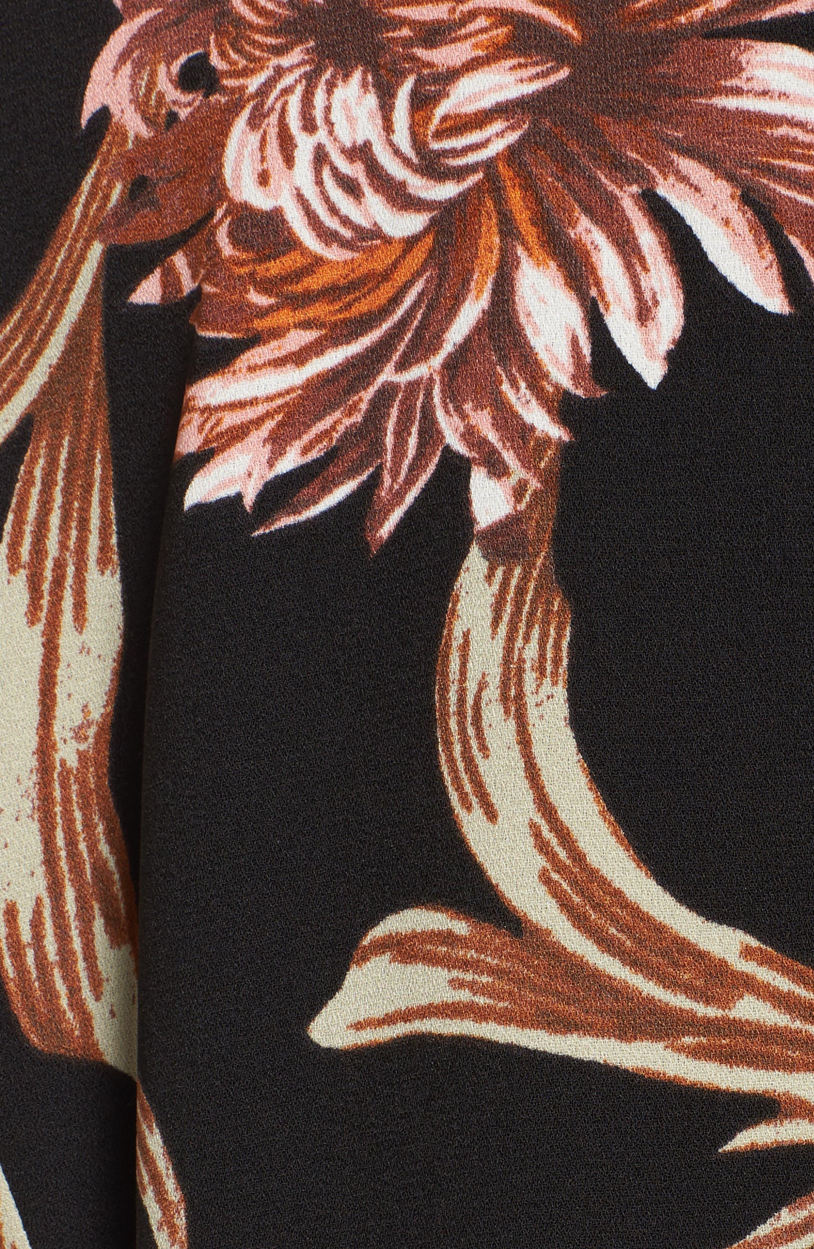 Floral Print Blazer,                             Alternate thumbnail 6, color,                             001
