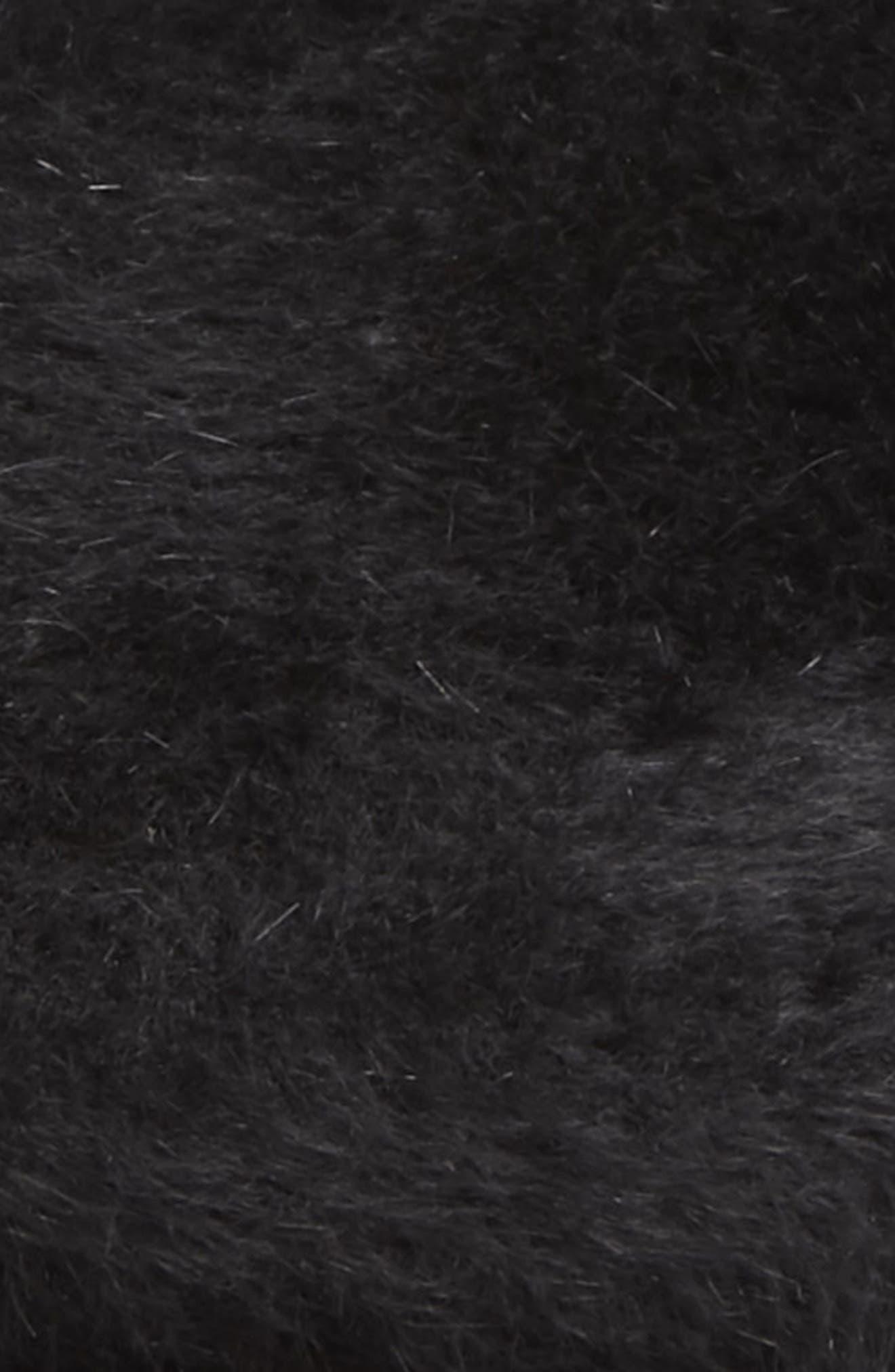 Tully Rabbit Fur Felt Newsboy Cap,                             Alternate thumbnail 2, color,                             BLACK