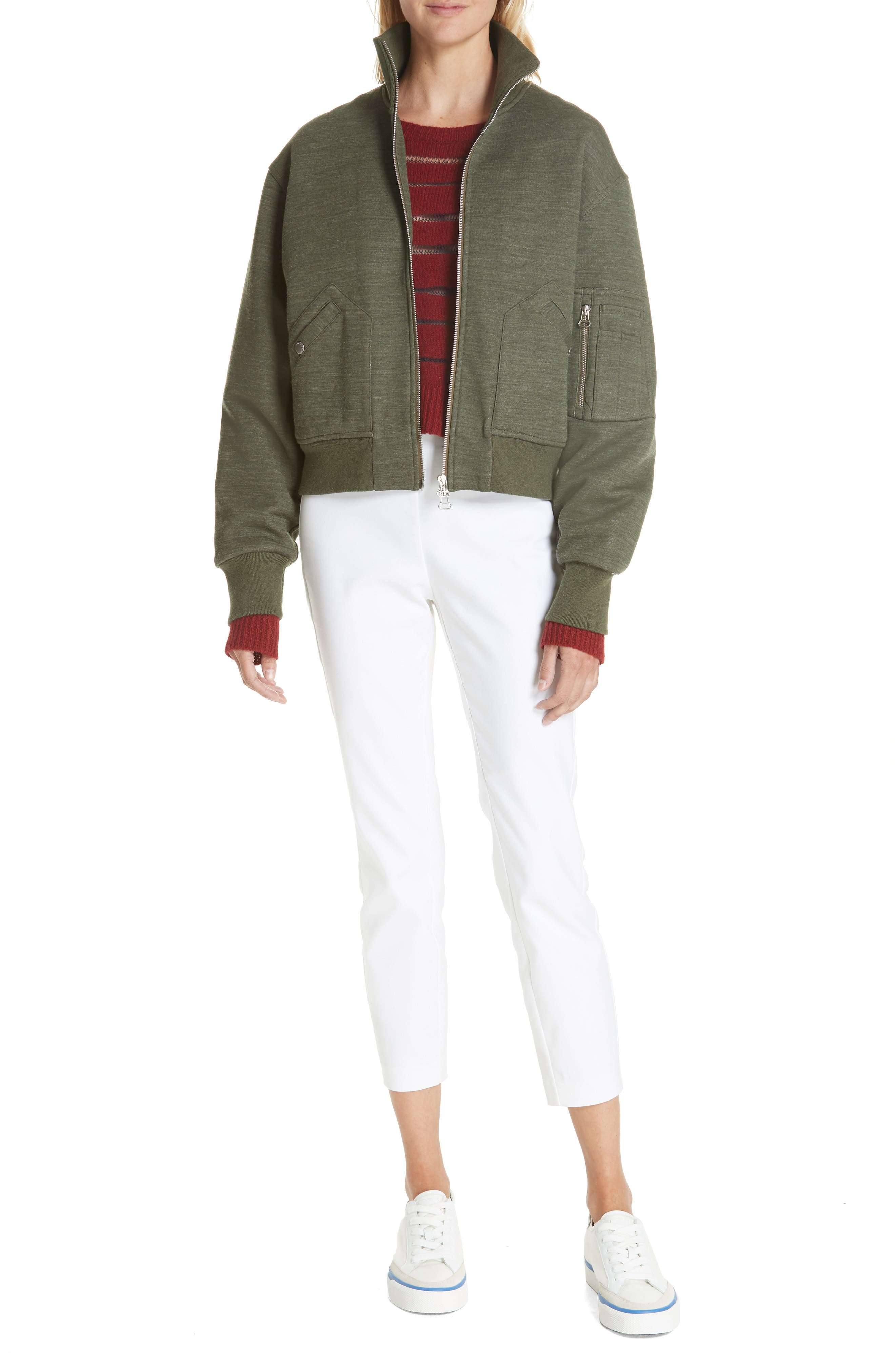 Penn Sheer Stripe Crop Sweater,                             Alternate thumbnail 7, color,                             068