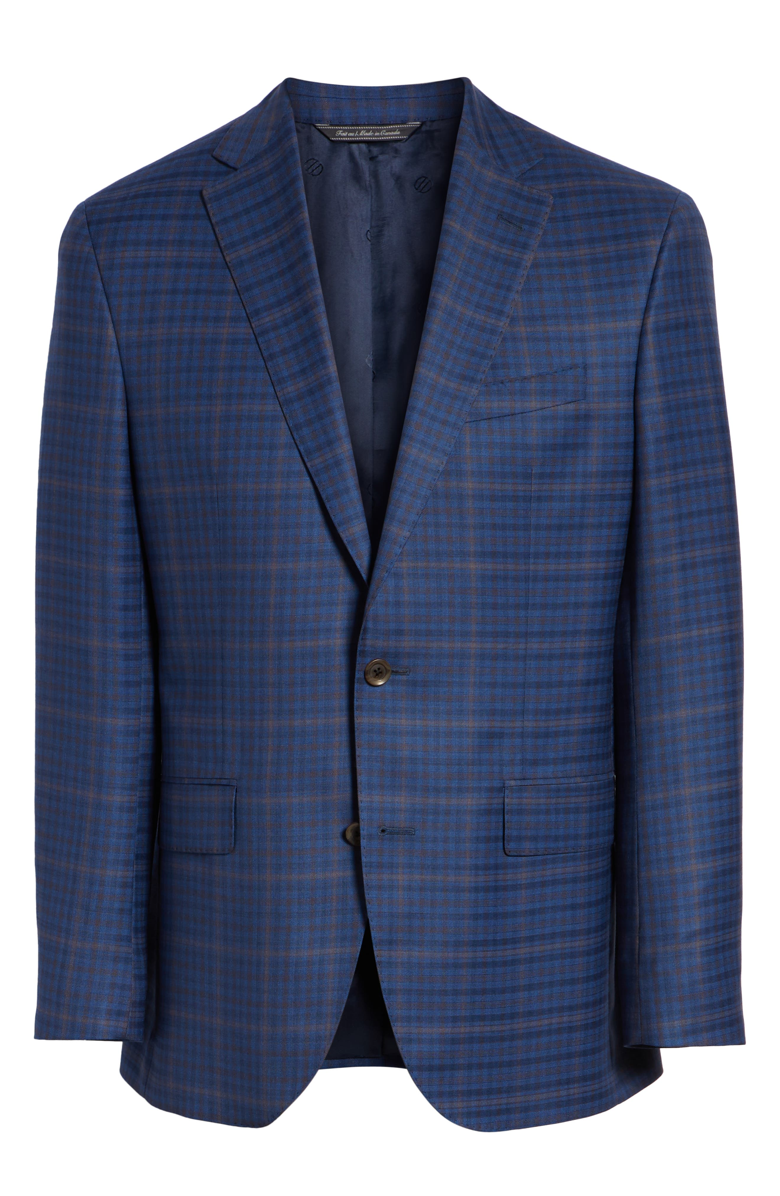 DAVID DONAHUE,                             Connor Classic Fit Plaid Wool Sport Coat,                             Alternate thumbnail 5, color,                             400